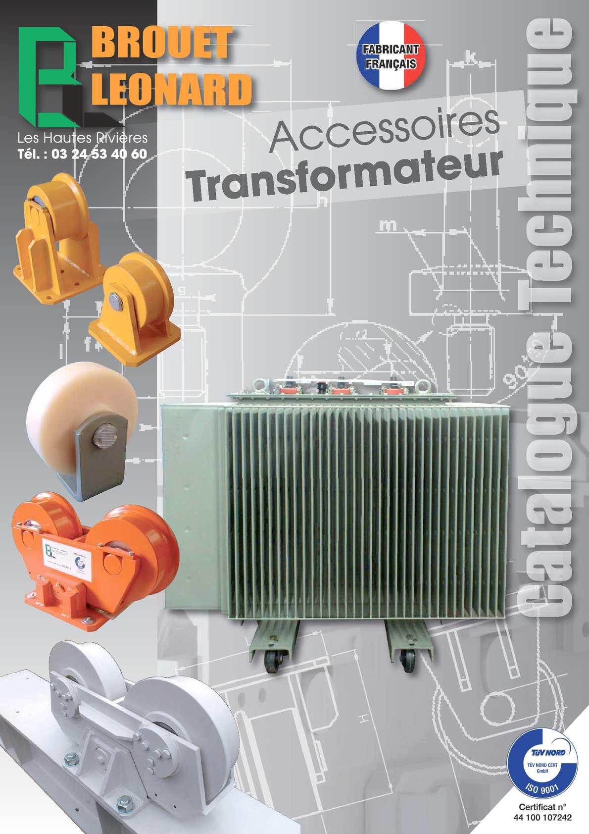 Catalogue Transformateurs