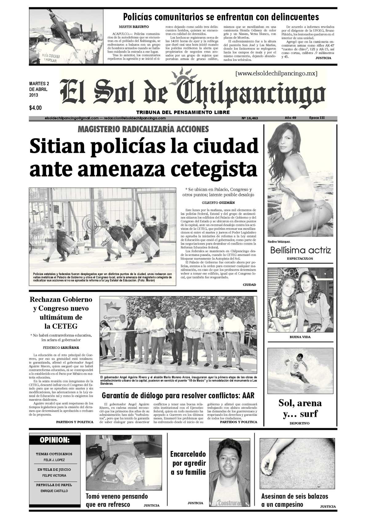 Calaméo - El Sol de Chilpancingo - 02 Abril 2013