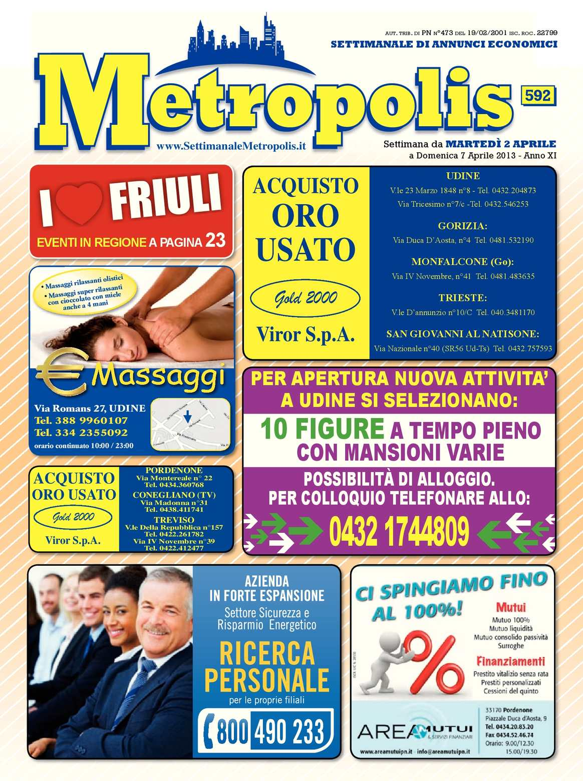 Calaméo - #592 Metropolis del 2 Aprile 2013