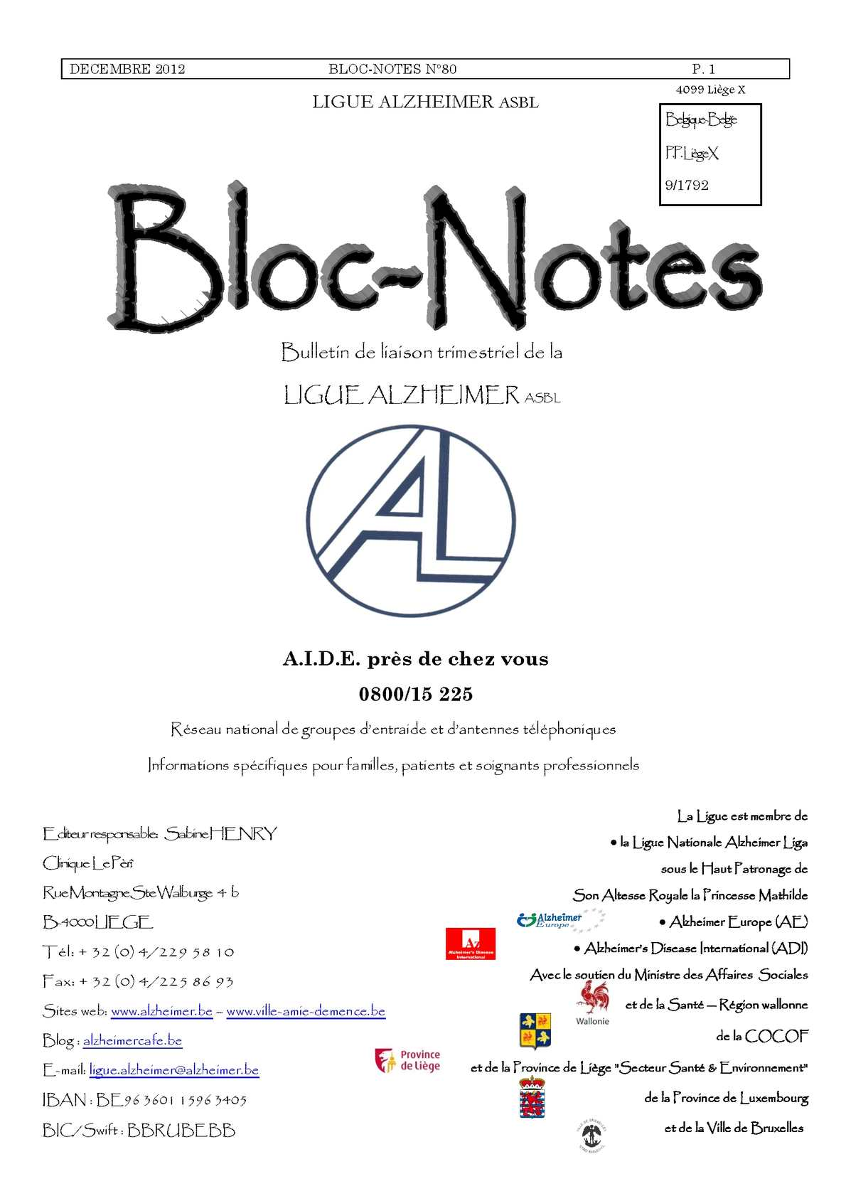 Carte Europeenne Dassurance Maladie Omnimut.Calameo Bloc Notes 80