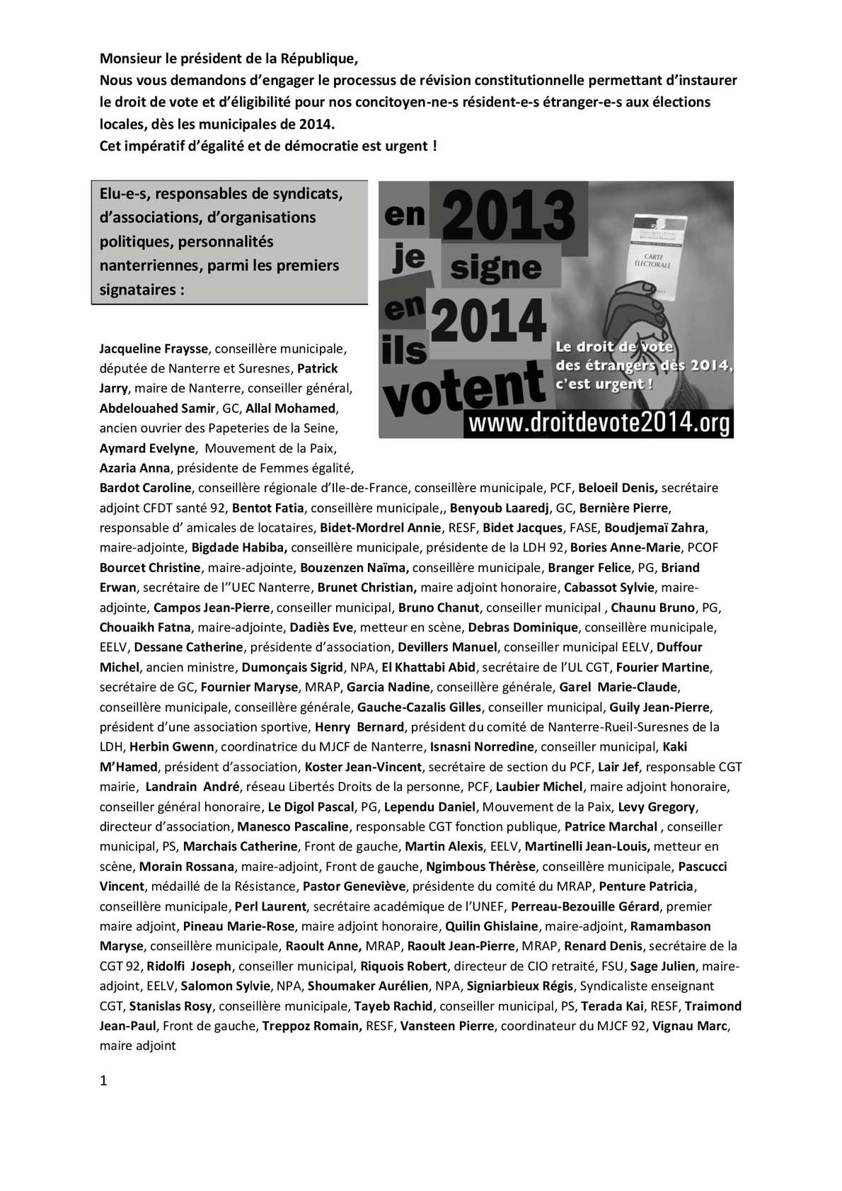 Calam o ddv 2014 400 premiers signataires nanterriens for Papeterie beloeil