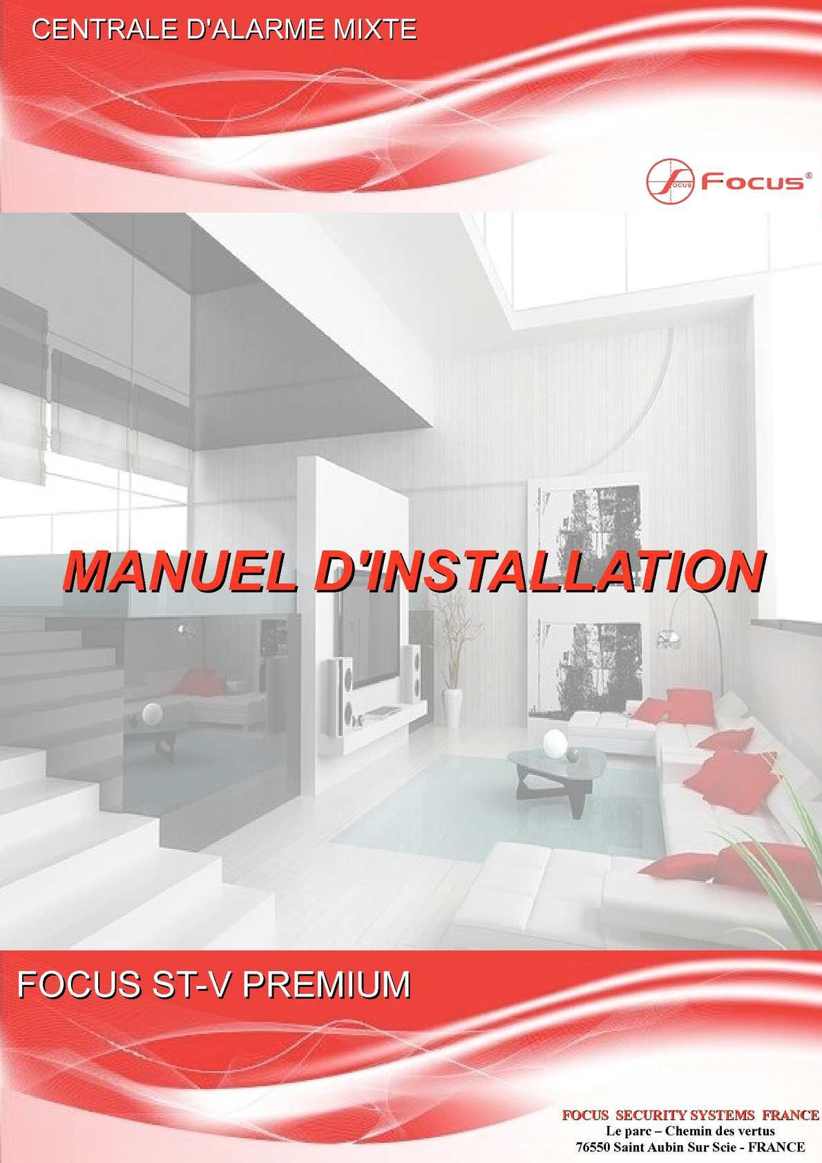 Notice centrale d'alarme FOCUS ST-V PREMIUM