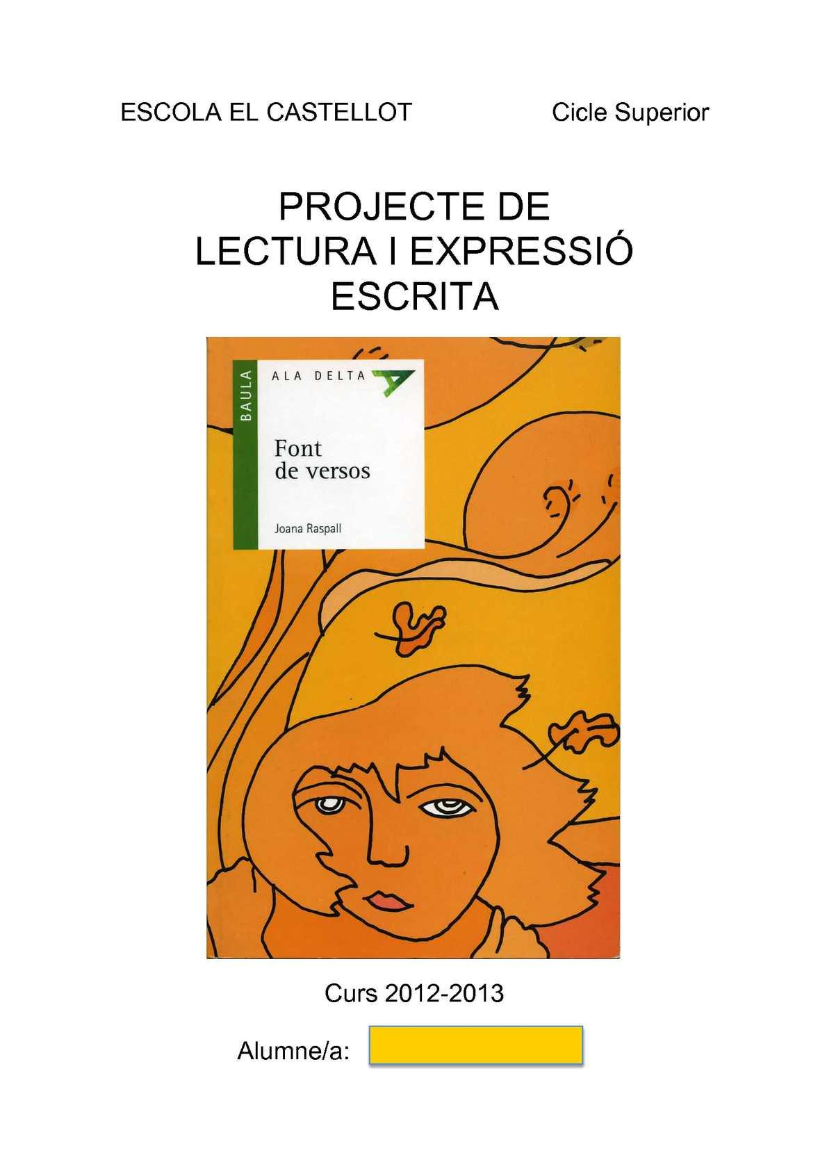 Dossier Font de versos. Joana Raspall (Cicle Superior)