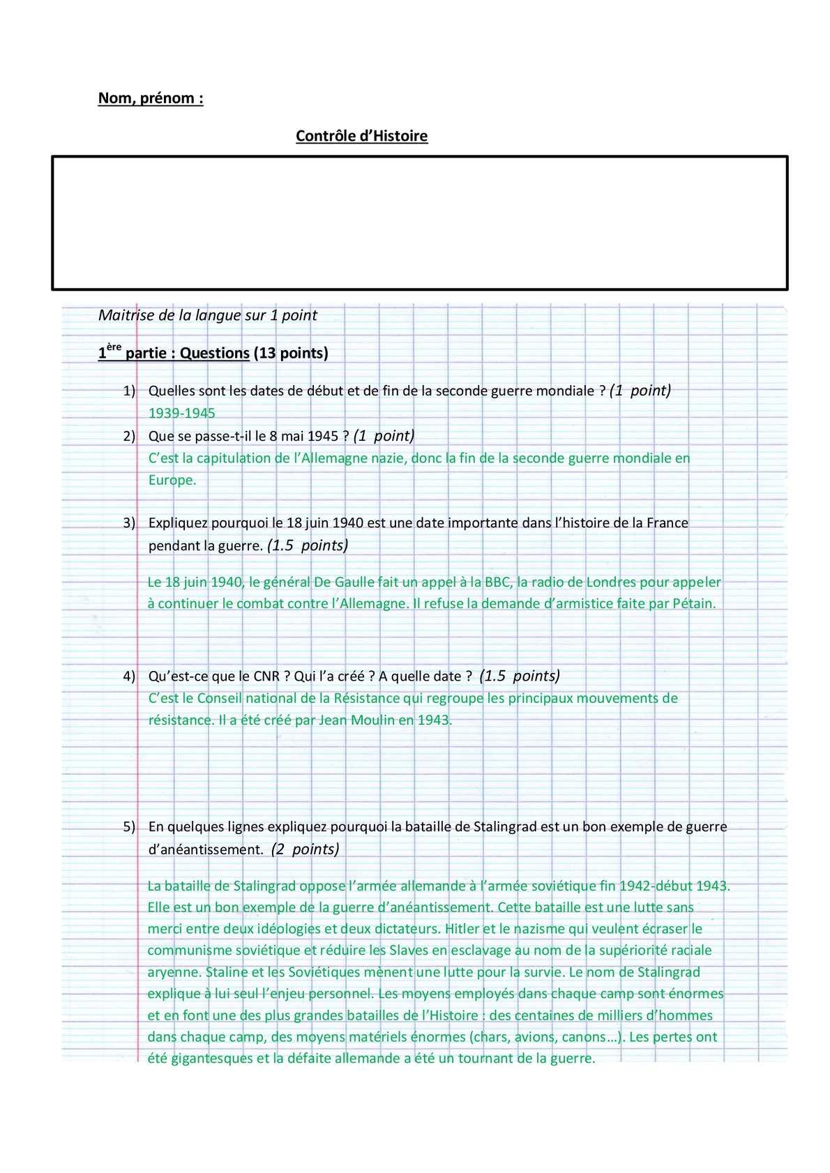 Correction DS 4 Nourrir les Hommes (18-12-09) - Le blog ...