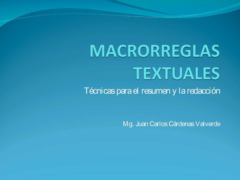 Macrorreglas Textuales