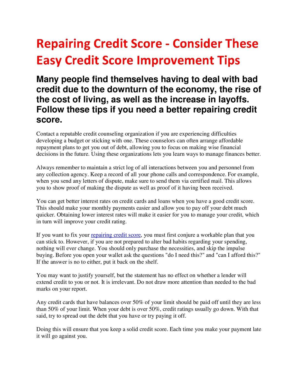 Calamo Credit Repair