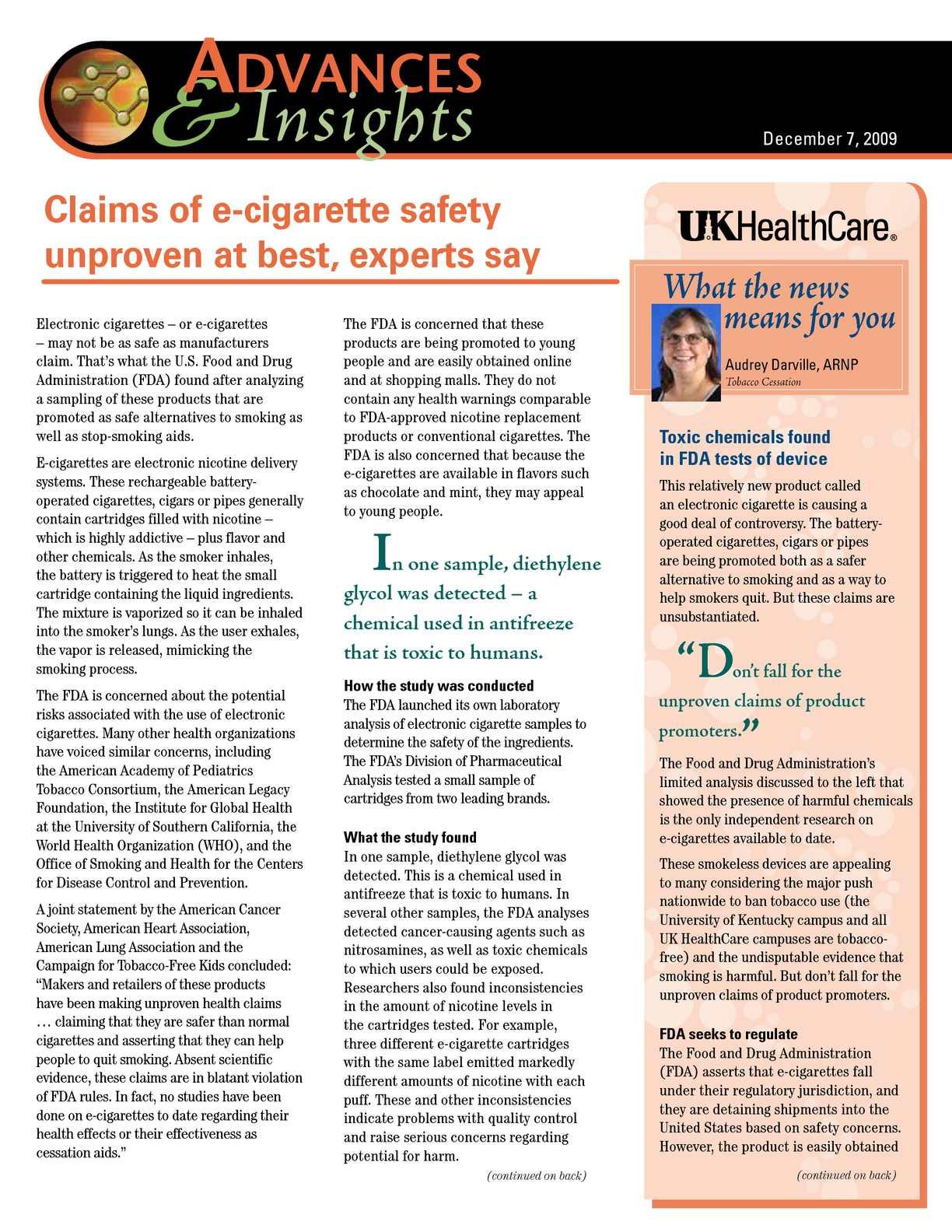 electronic cigarette samples