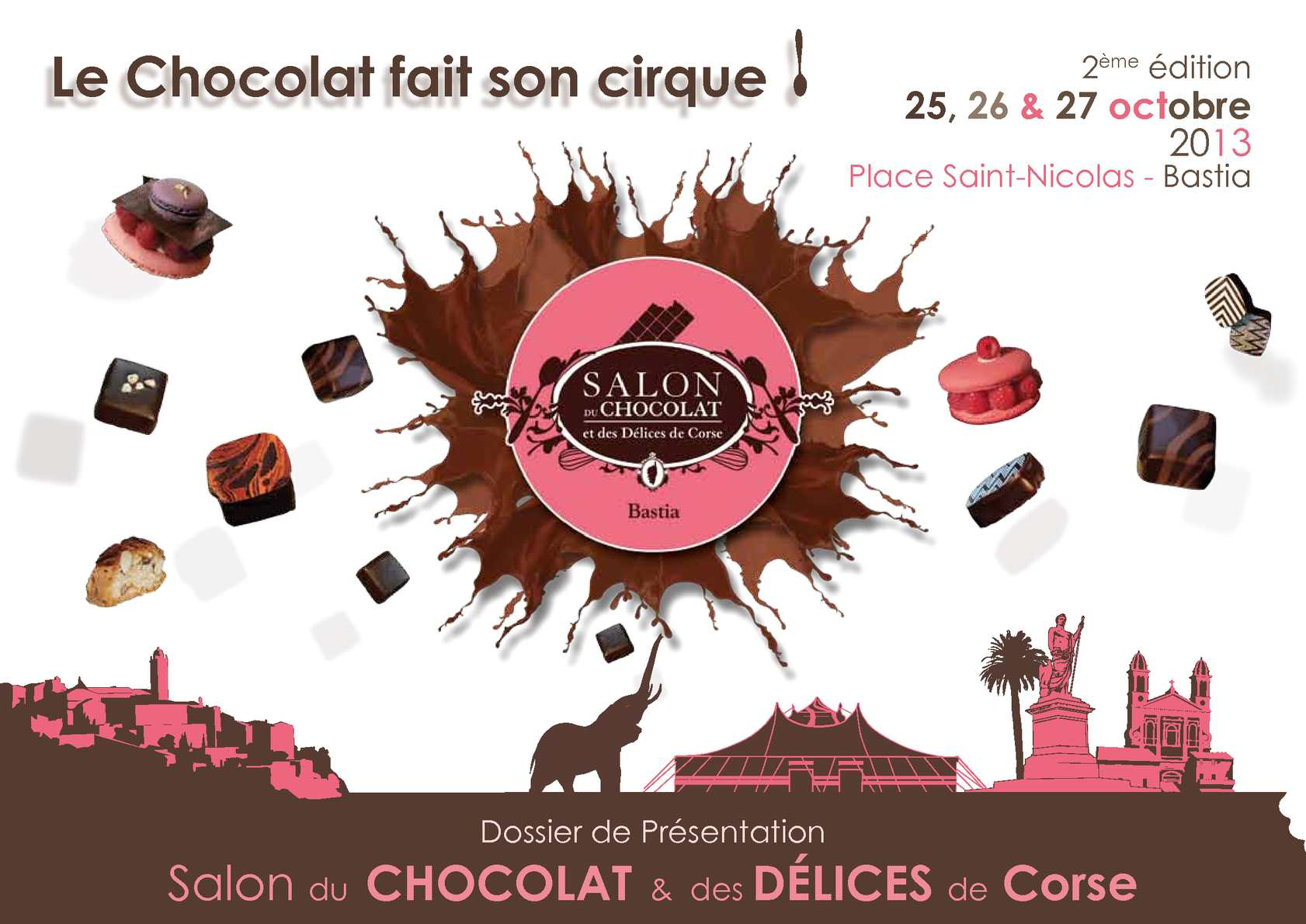 calam o dossier de pr sentation salon du chocolat. Black Bedroom Furniture Sets. Home Design Ideas