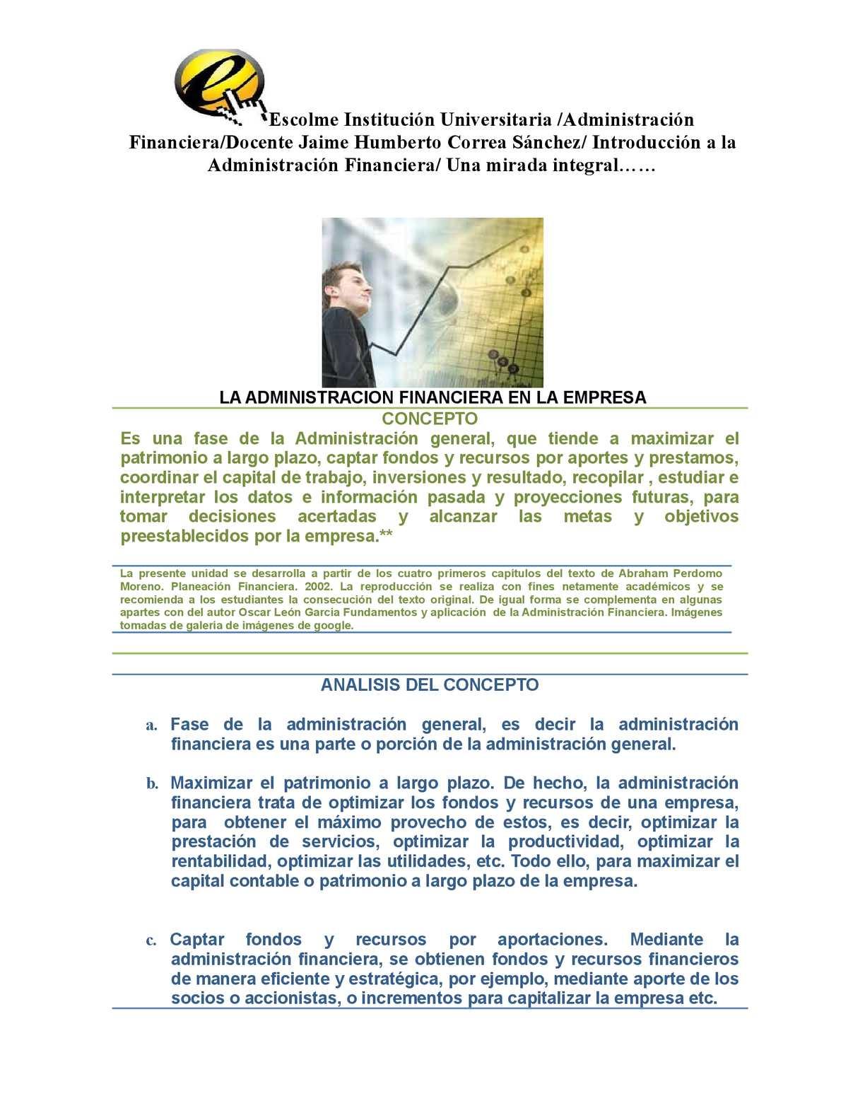 Calaméo - La importancia de la Administración Financiera. Una mirada ...