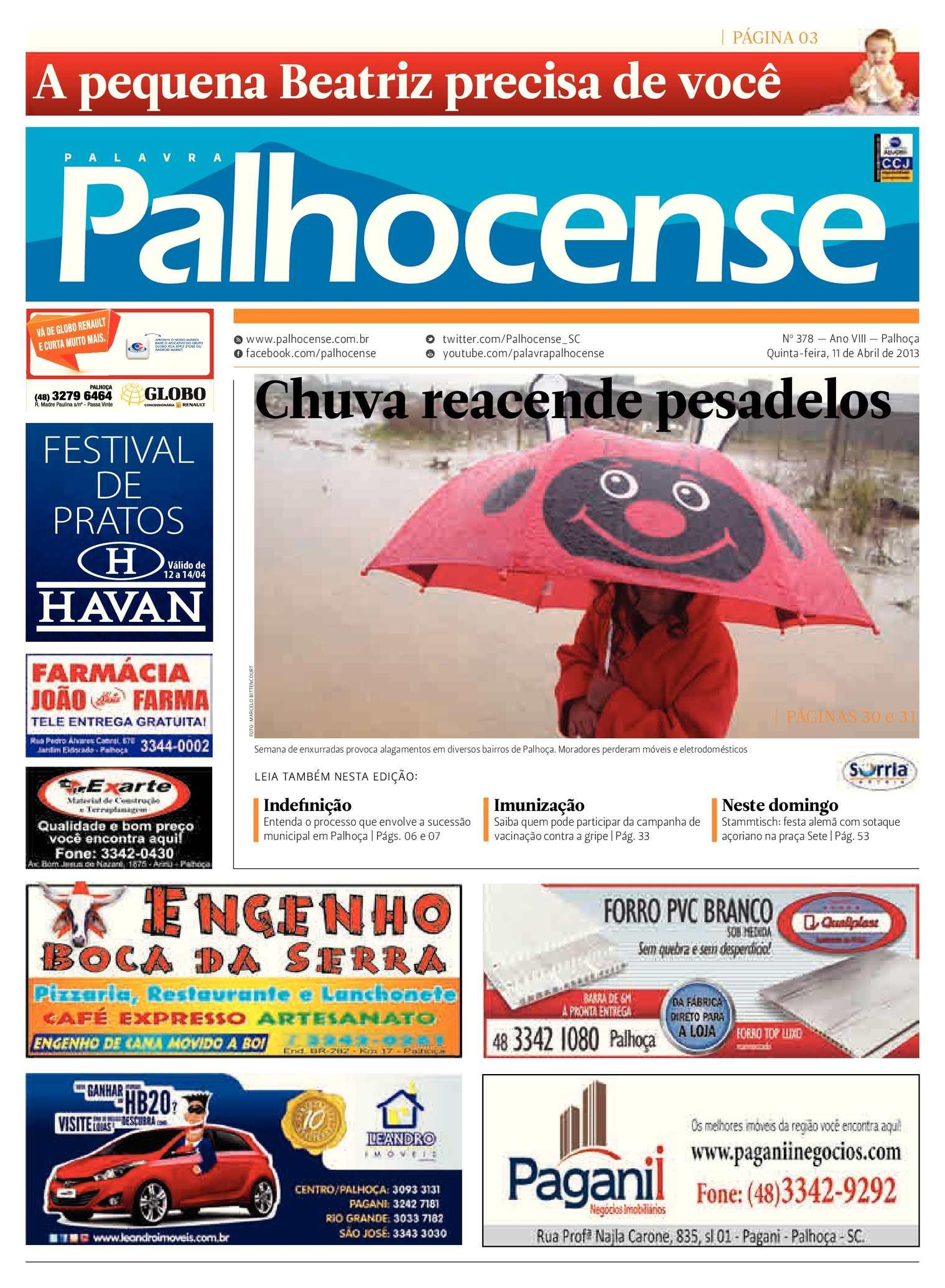 783eab9699be4 Calaméo - Jornal Palavra Palhocense - Edição 378