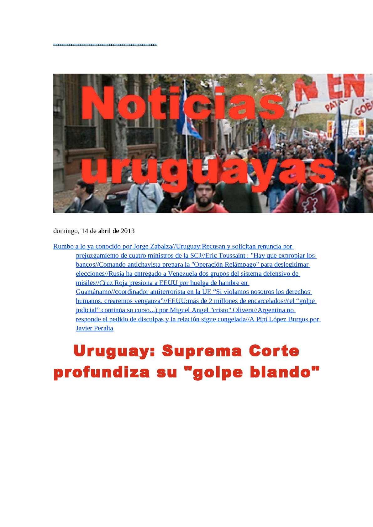 Calaméo - Noticias Uruguayas domingo 14 de abril del 2013