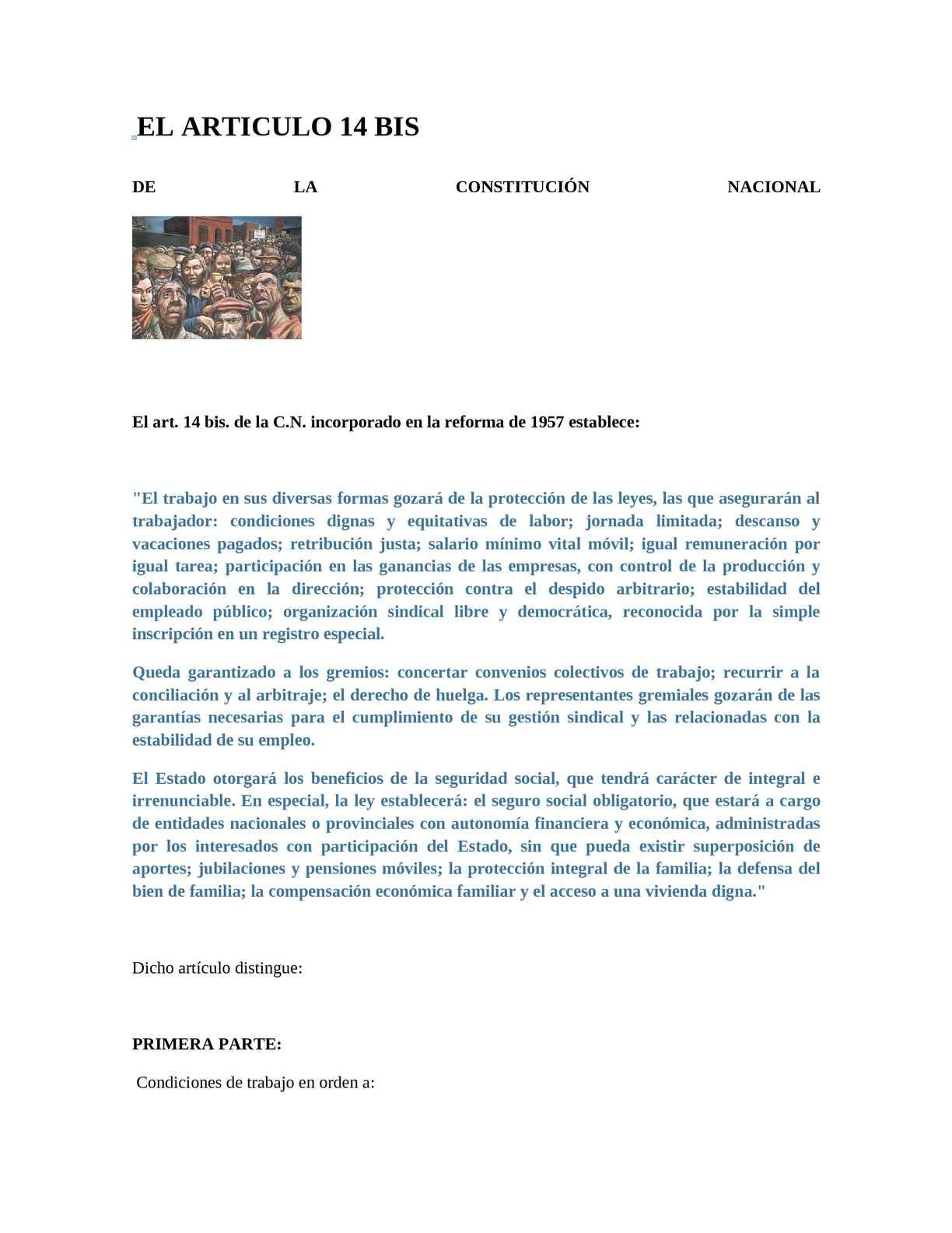 Calaméo - Art. 14 Bis Constitución Nacional
