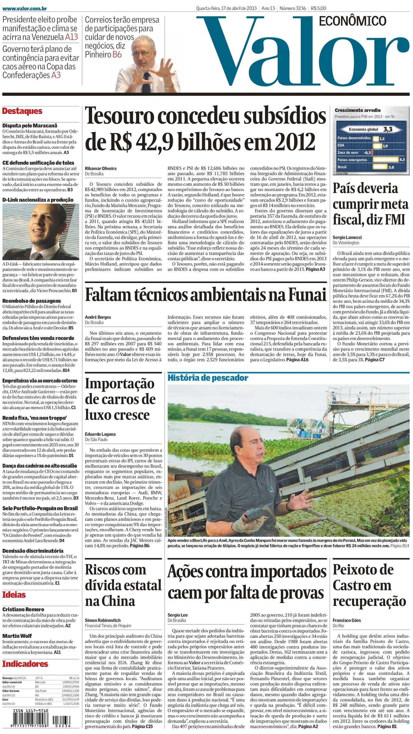 b2eadd298 Calaméo - Valor Econômico 17-04-2013