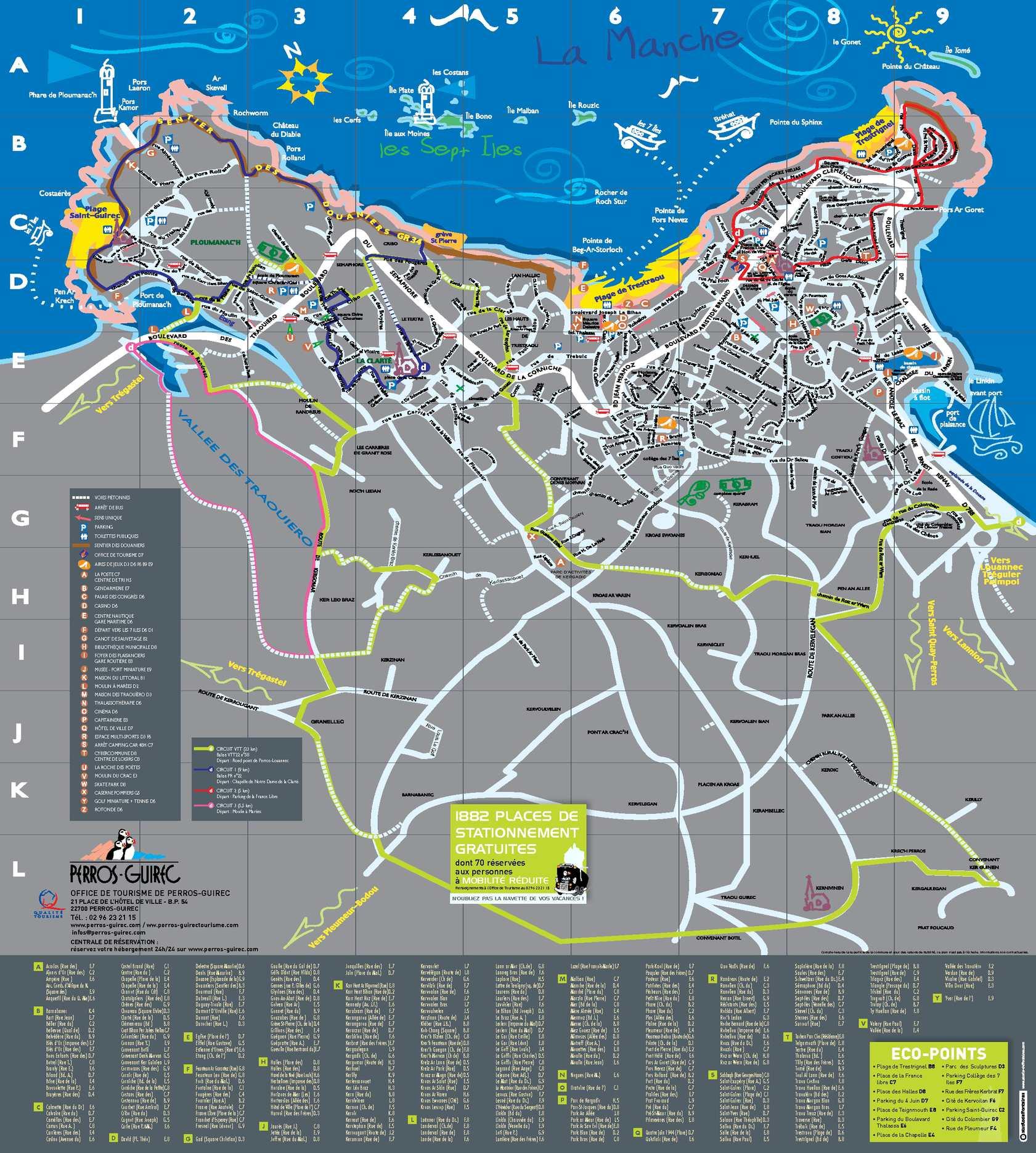Calam o plan de ville 2013 - Office du tourisme perros guirec bretagne ...