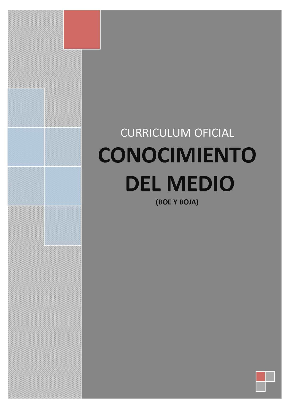 Calaméo - CURRICULUM OFICIAL CONOCIMIENTO DEL MEDIO