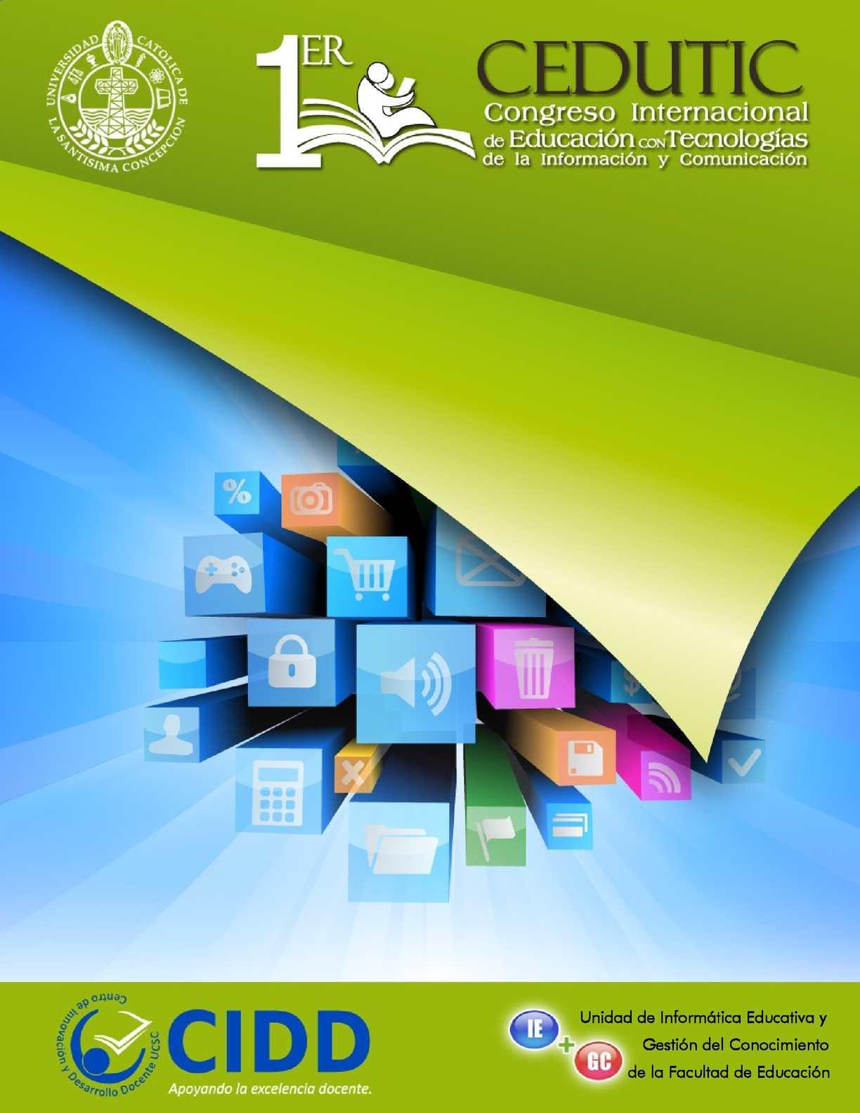 Calaméo - Primer Congreso Internacional de Educación con Tecnologías ...