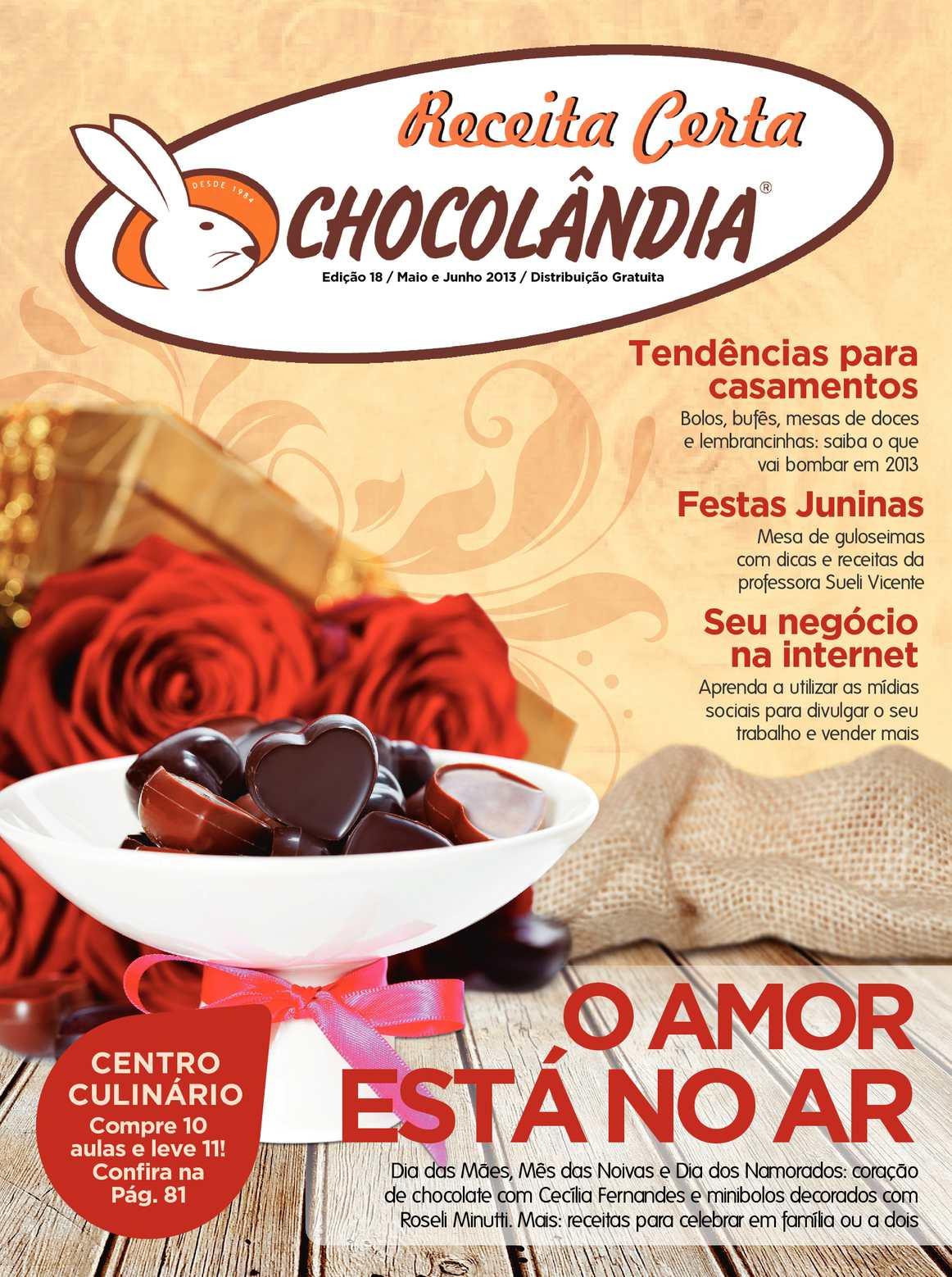 Revista Receita Certa Chocolândia - O Amor está no ar!