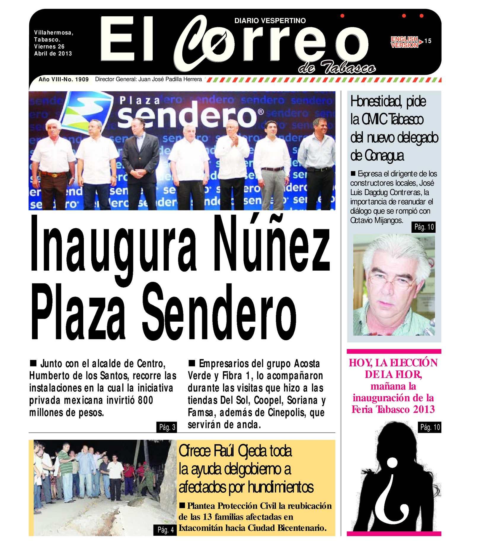 Calaméo - Viernes 26 de Abril del 2013. El Correo de Tabasco