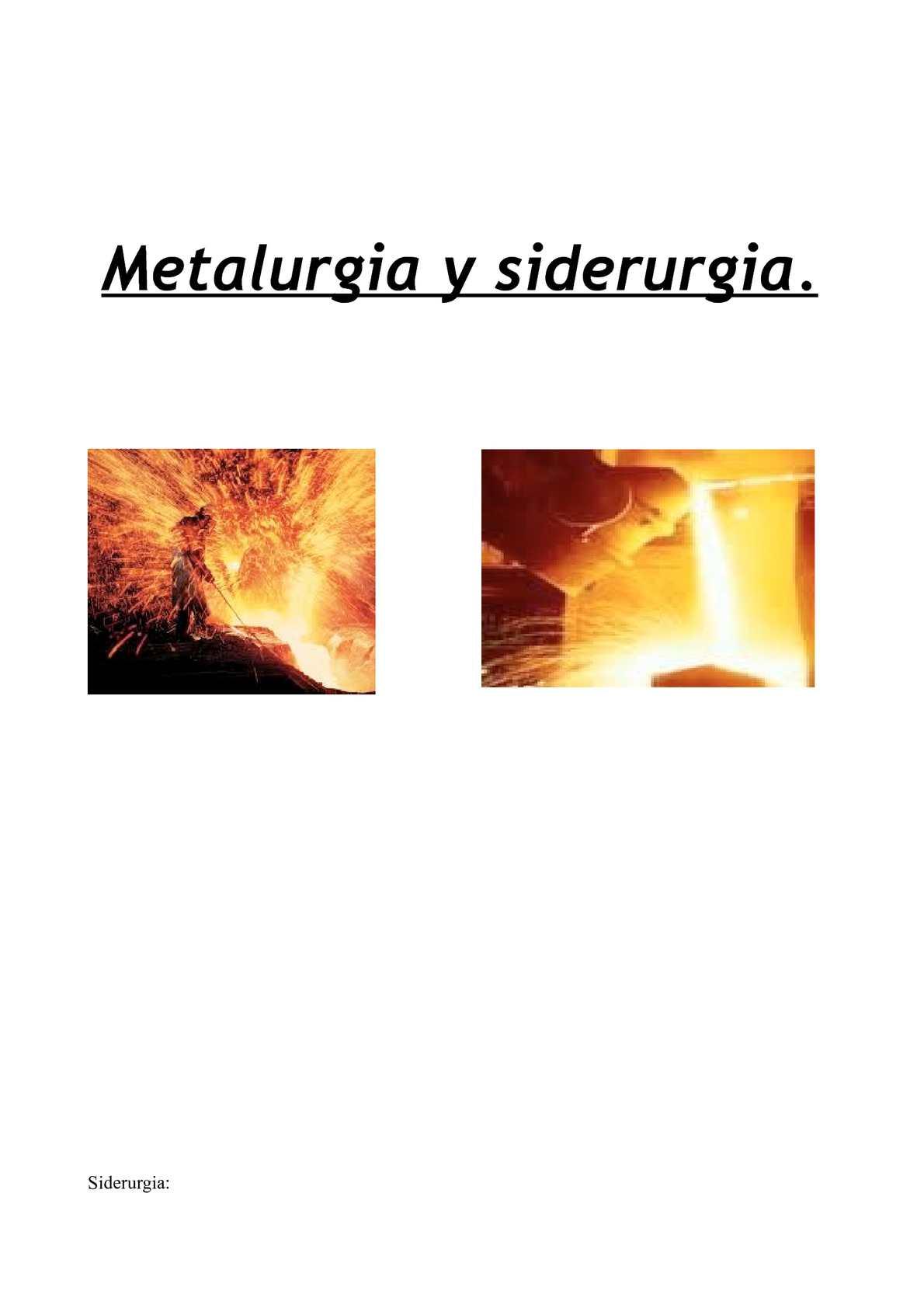 metalurgia siderurgia