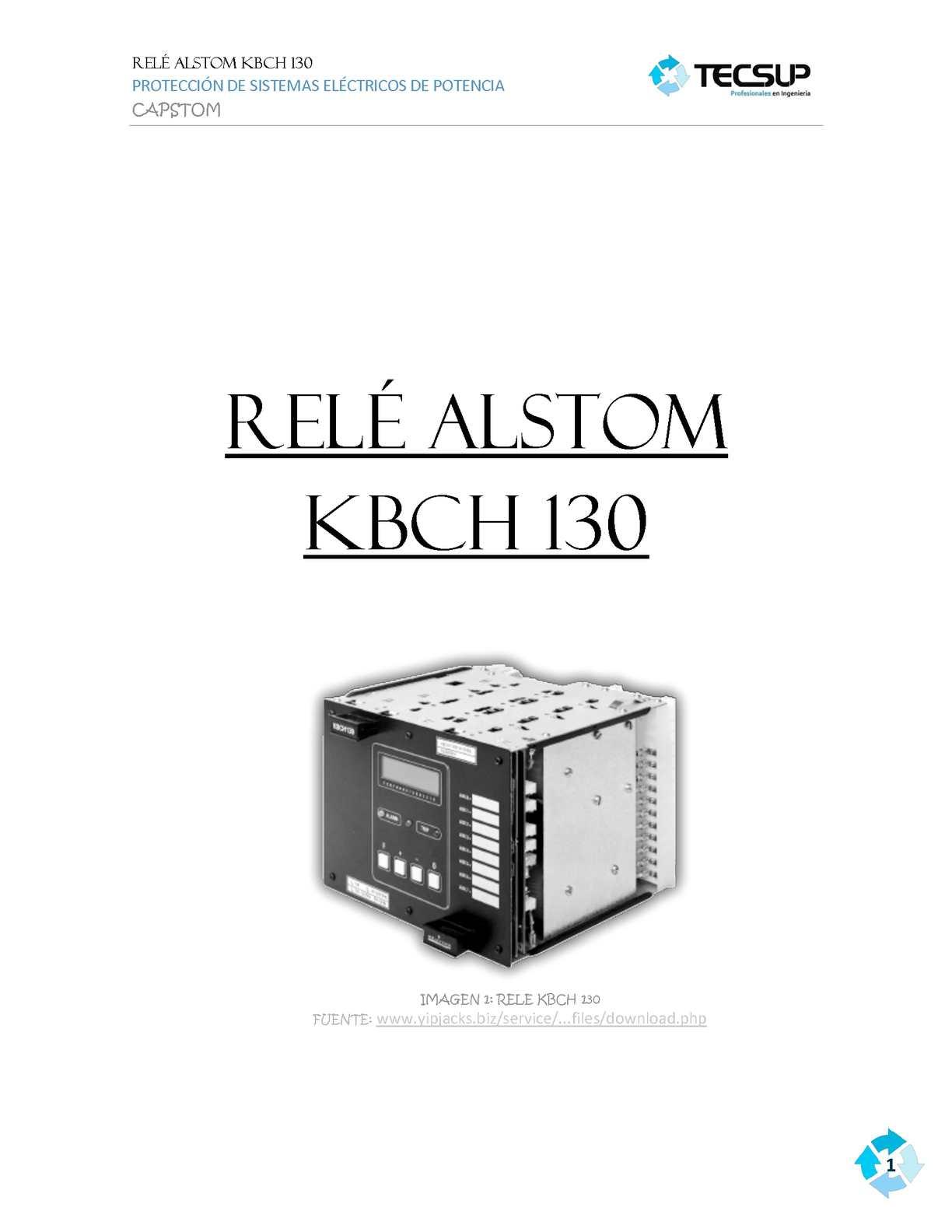rele kbch 130/ primer avance