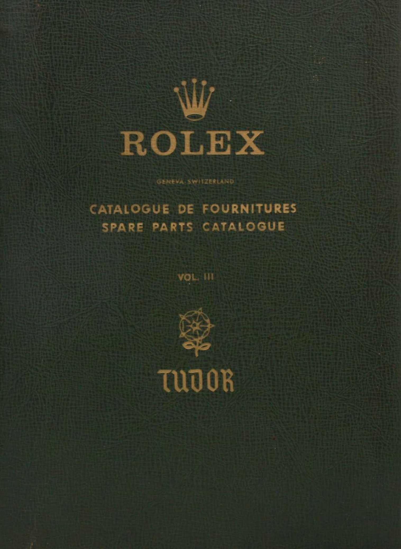 Calameo Downloader Rolex Parts Diagram Tudor Spare Catalogue Vol Iii 1960