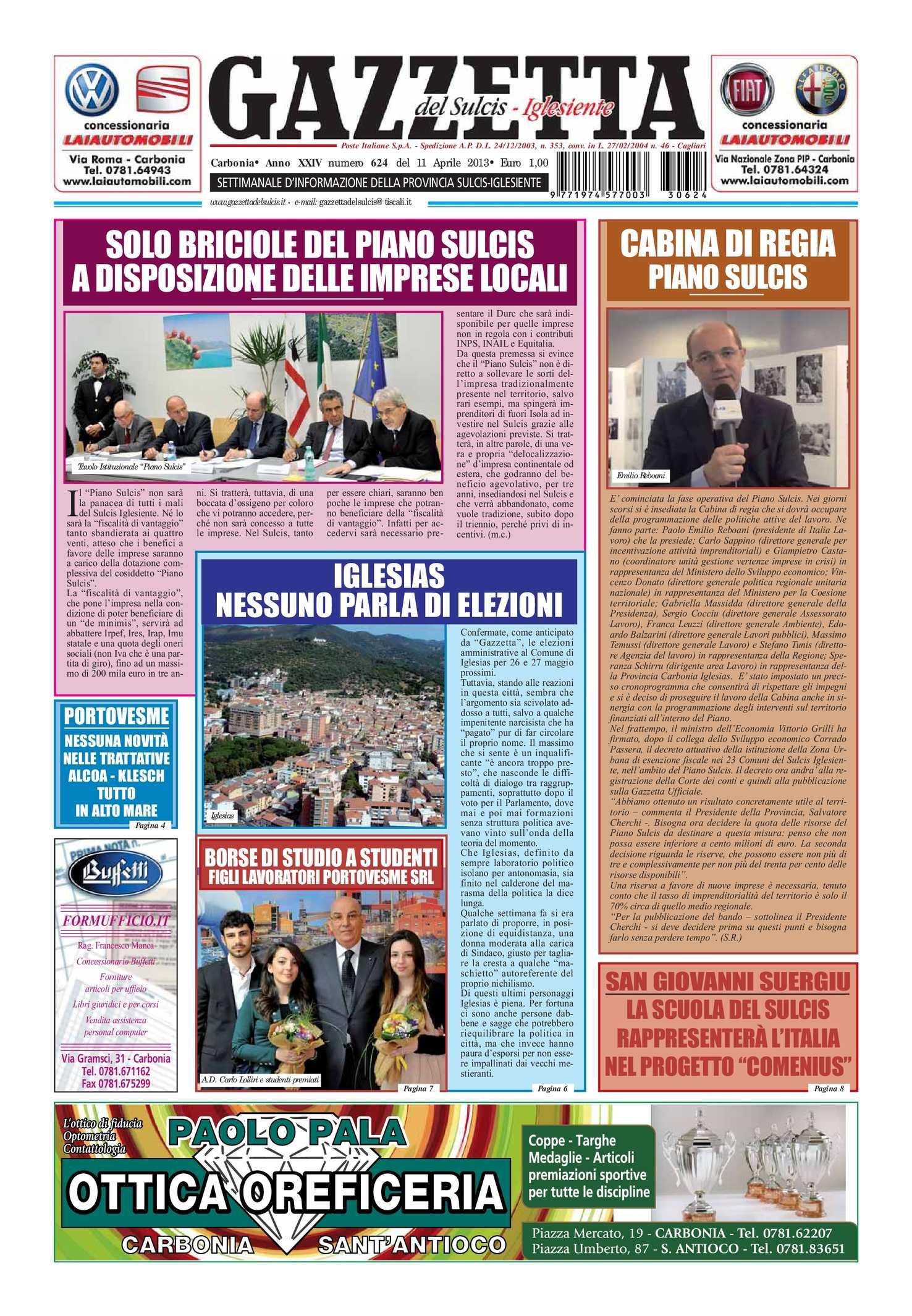 Calaméo Gazzetta Del Sulcis Iglesiente N° 624 Del 11 Aprile 2013
