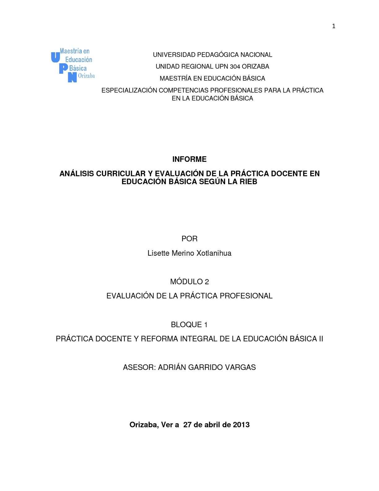Calaméo - INFORME ACADÉMICO: ANÁLISIS CURRICULAR Y EVALUACIÓN DE LA ...