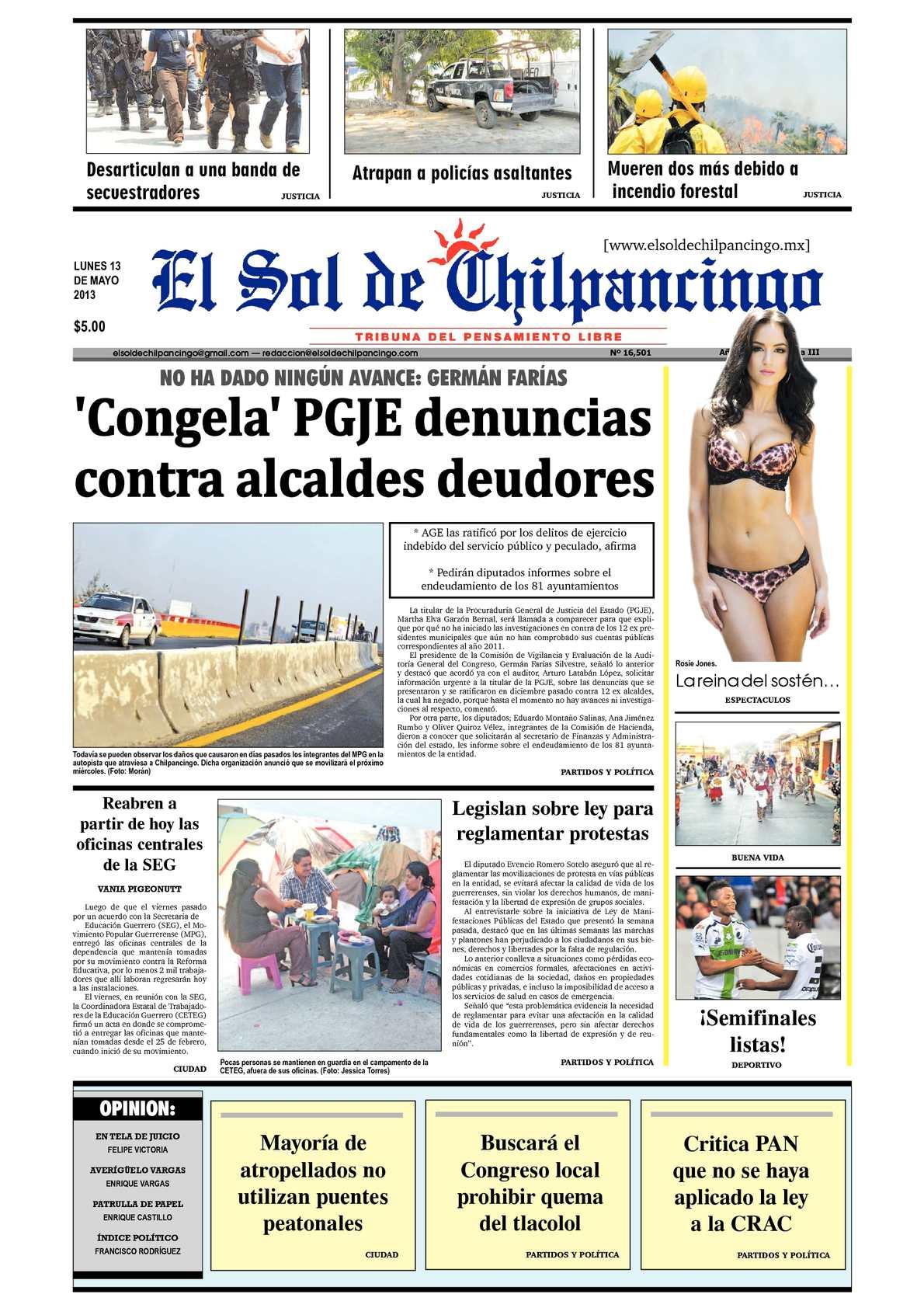 Calaméo - El Sol de Chilpancingo - 13 Mayo 2013