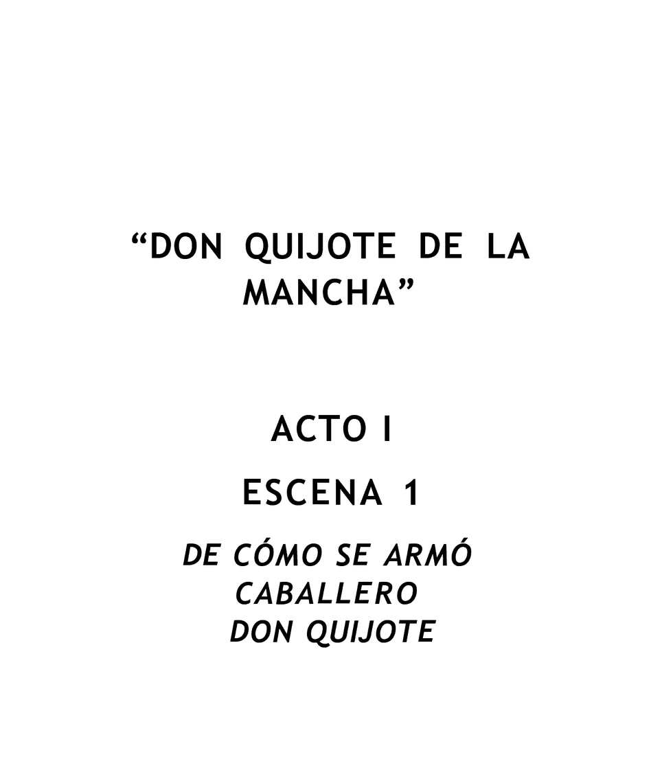 Don Quijote (guion)