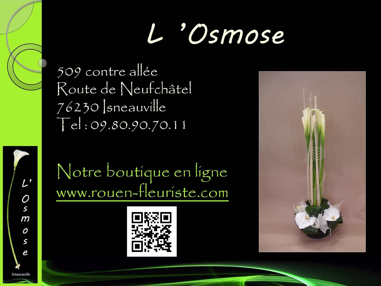 calam o fleuriste l 39 osmose isneauville mariage composition c r monie. Black Bedroom Furniture Sets. Home Design Ideas