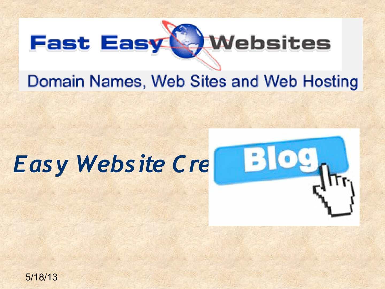 Calam O Easy Website Creator