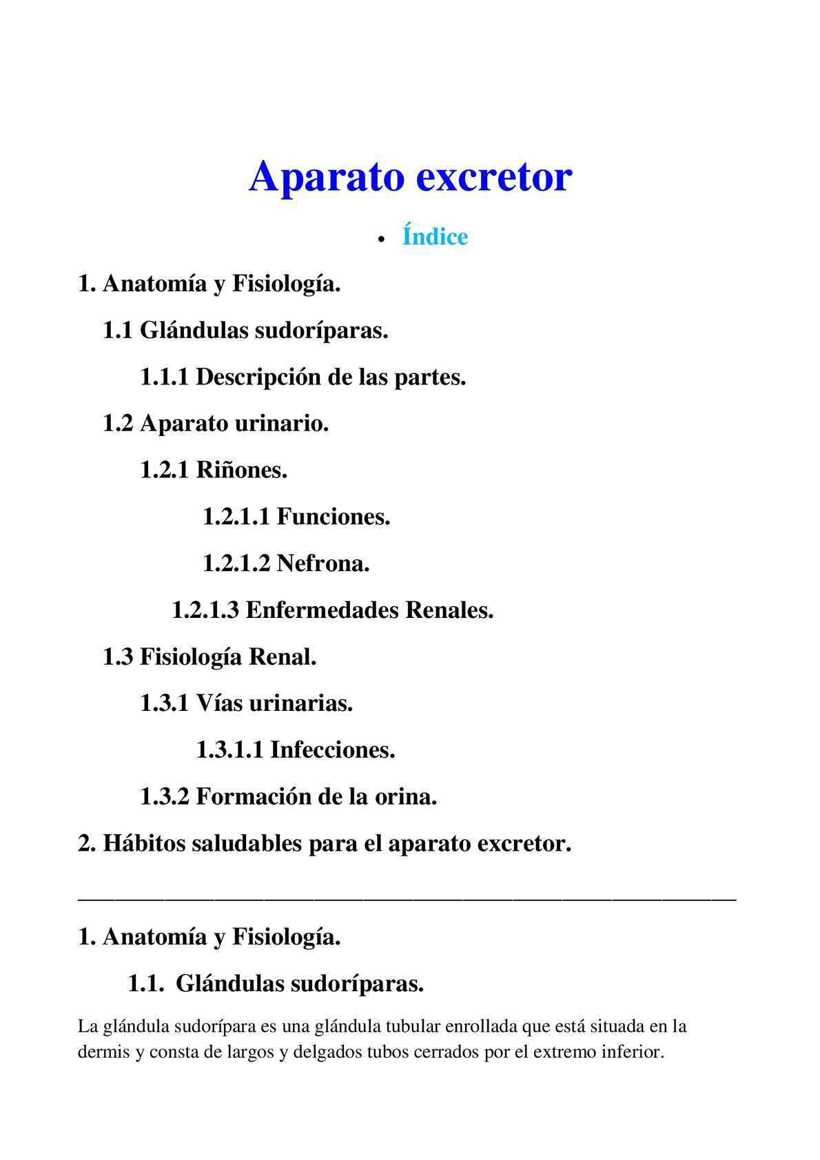 Calaméo - Aparato excretor
