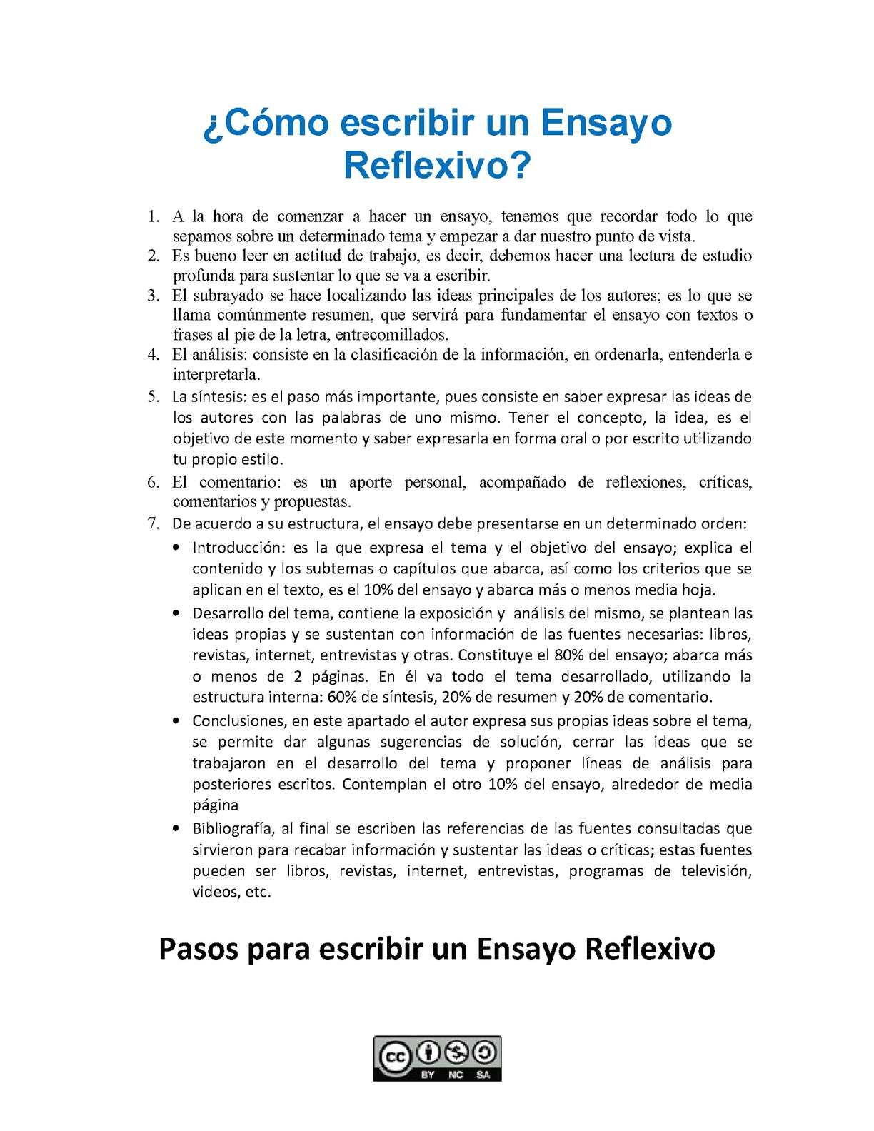 Calaméo - ¿Cómo hacer un ensayo reflexivo?