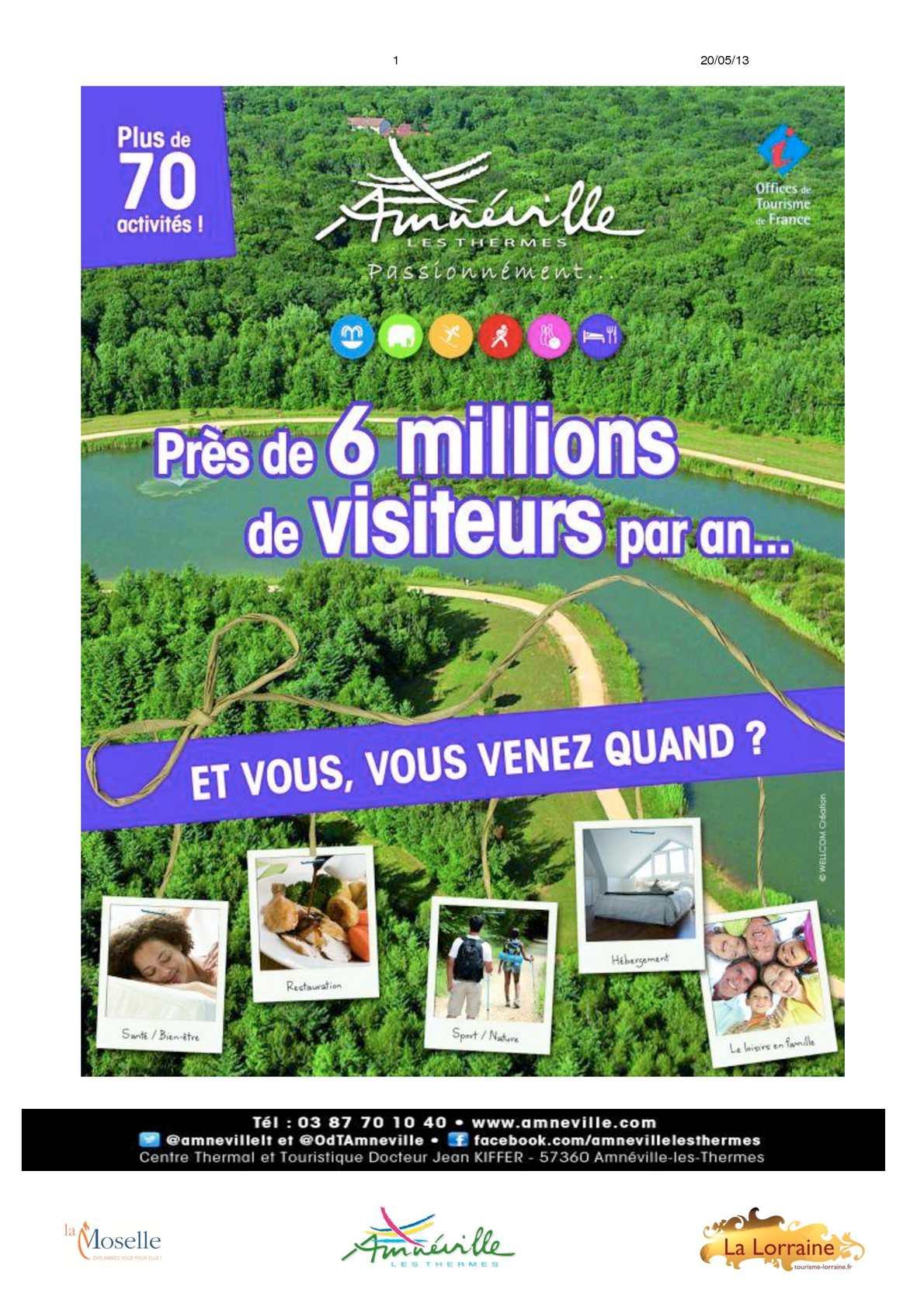 Calam o pr sentation 2013 site amn ville les thermes - Office de tourisme amneville ...
