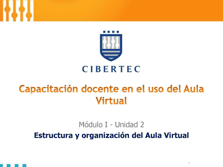 Estructura y organización del Aula Virtual
