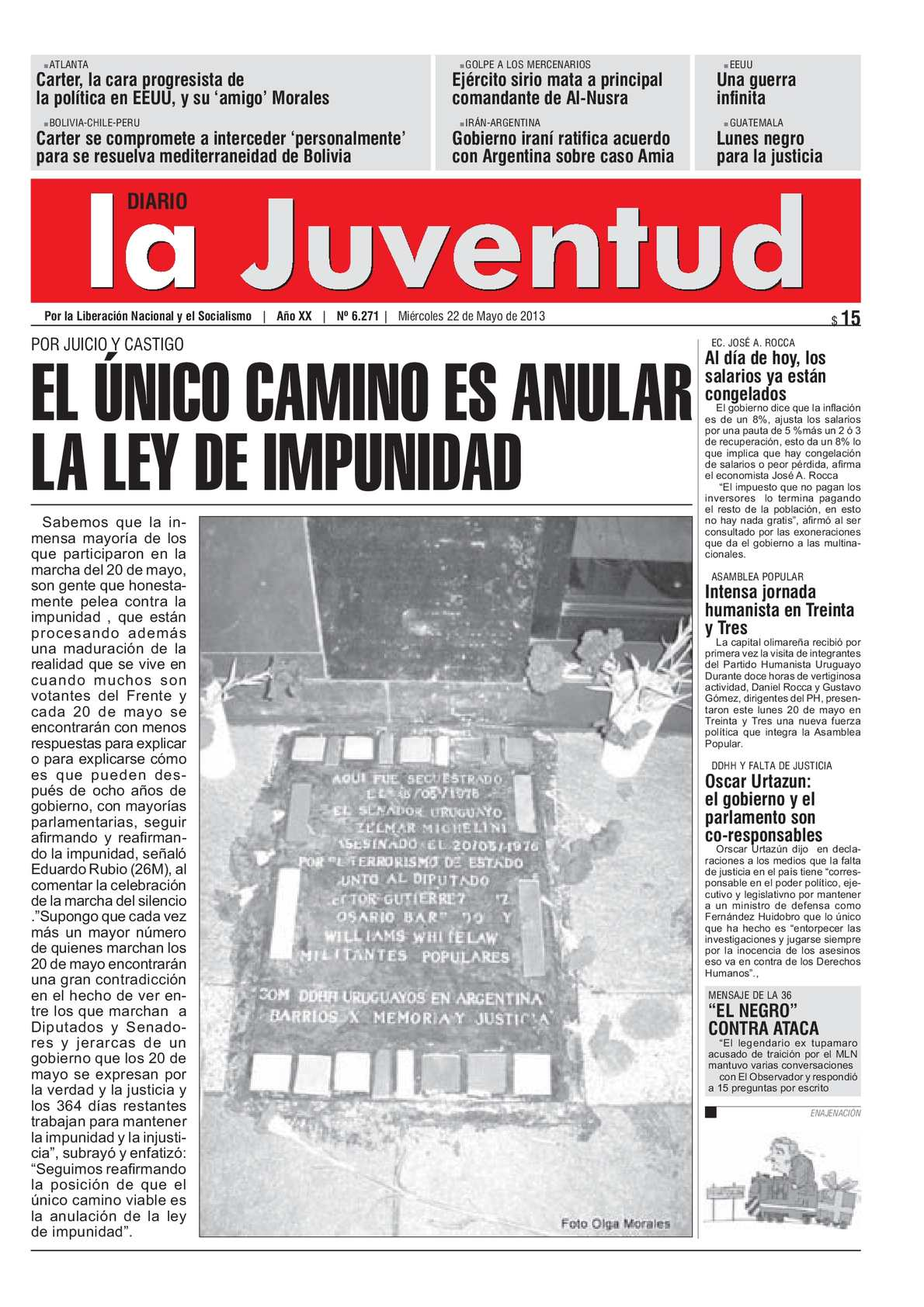 Calaméo - EL ÚNICO CAMINO ES ANULAR LA LEY DE IMPUNIDAD