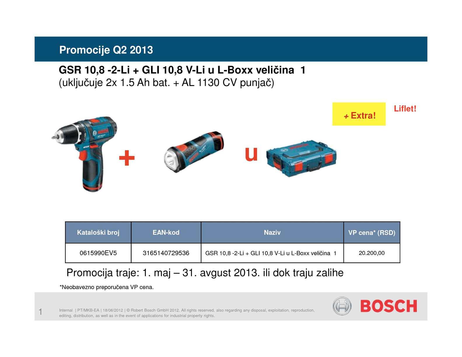 Calaméo Akcija Bosch Professional