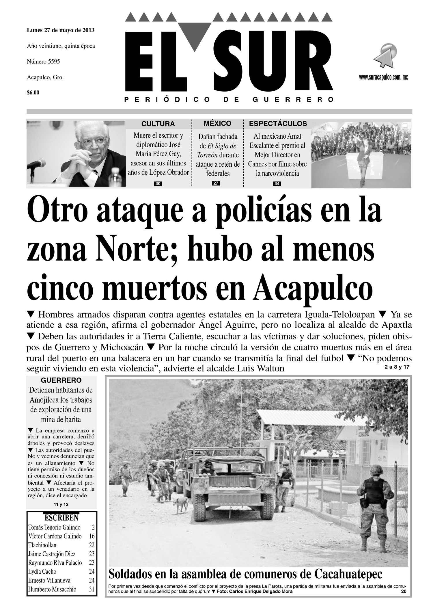 Calaméo - El Sur 27 de Mayo de 2013
