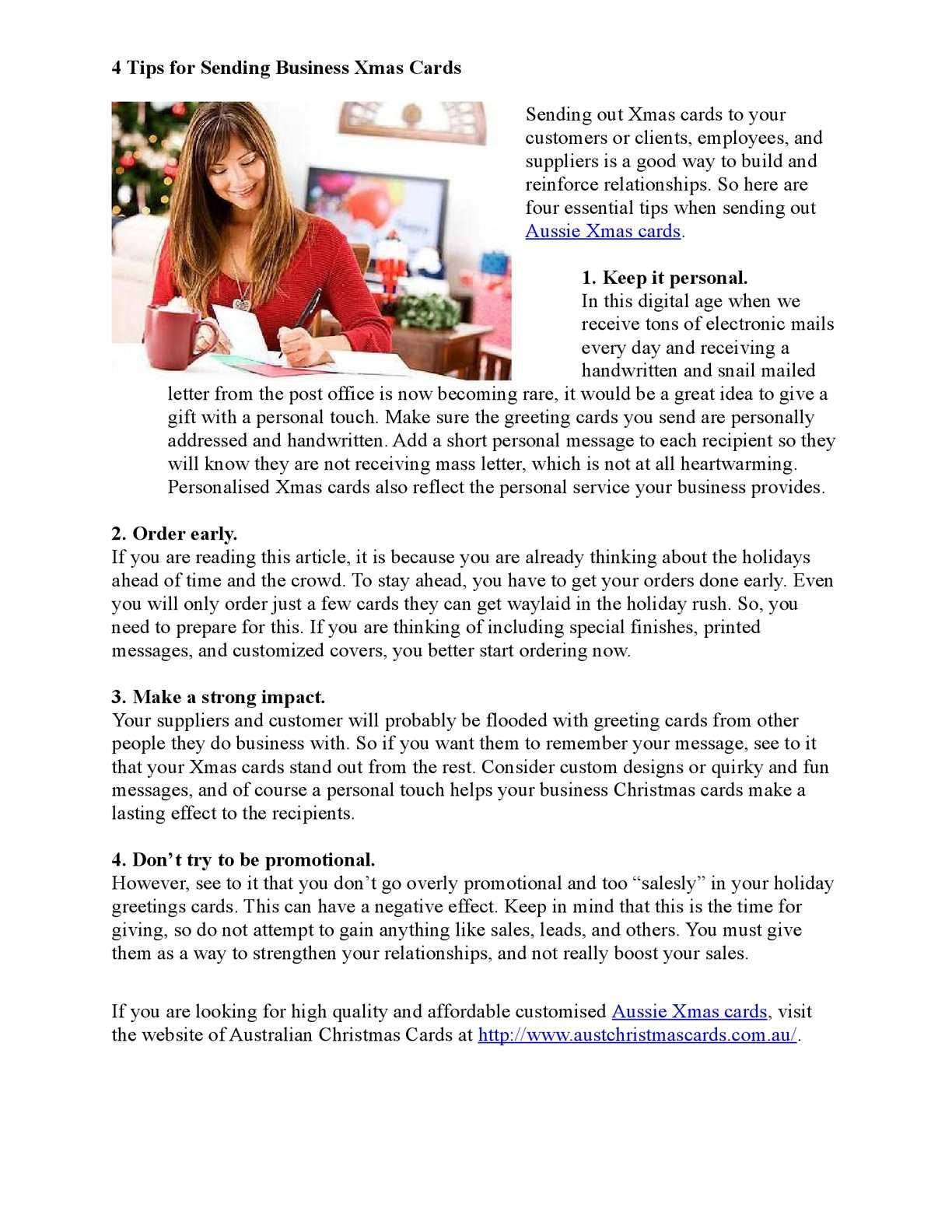 Calamo 4 Tips For Sending Business Xmas Cards
