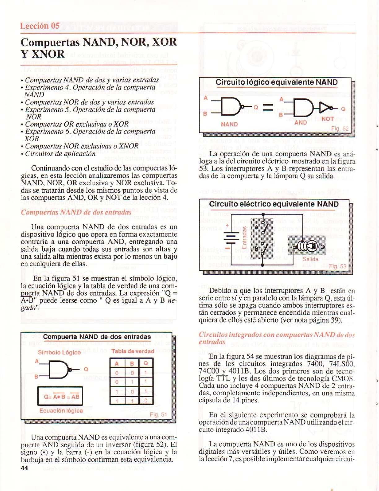 Circuito Xor : Electronica digital calameo downloader