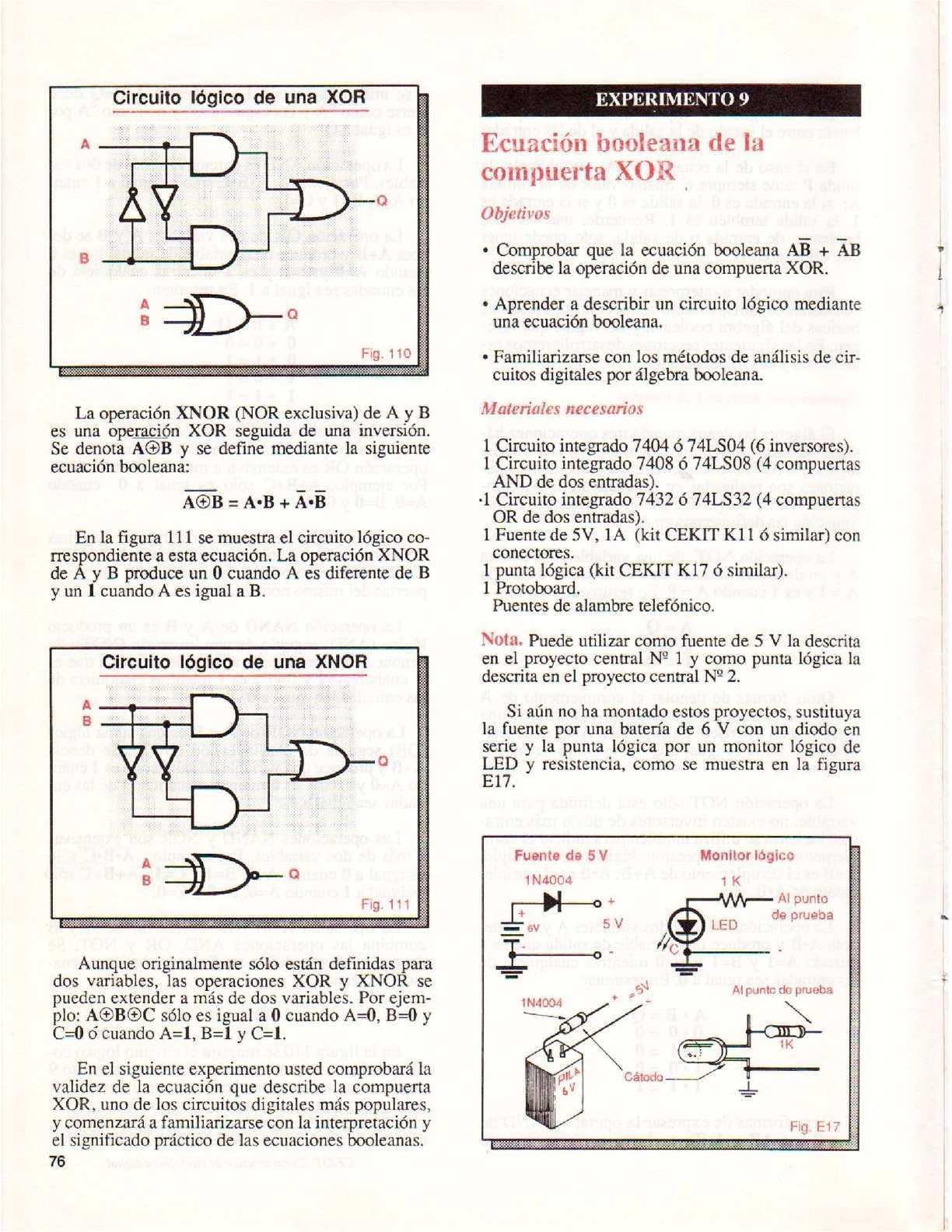 Circuito Xnor : Electronica digital calameo downloader
