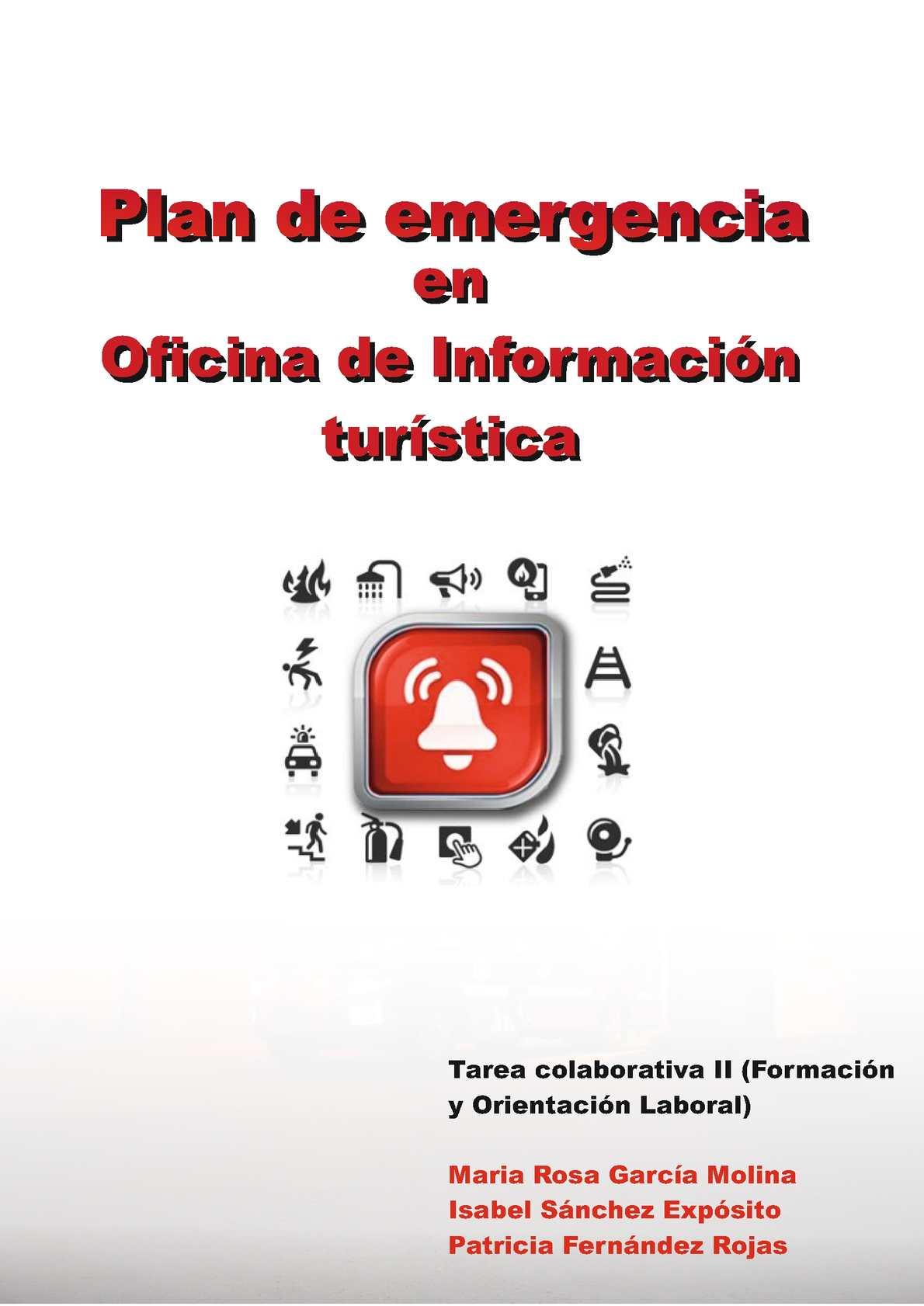 Calaméo - Plan de emergencia de una oficina de turismo