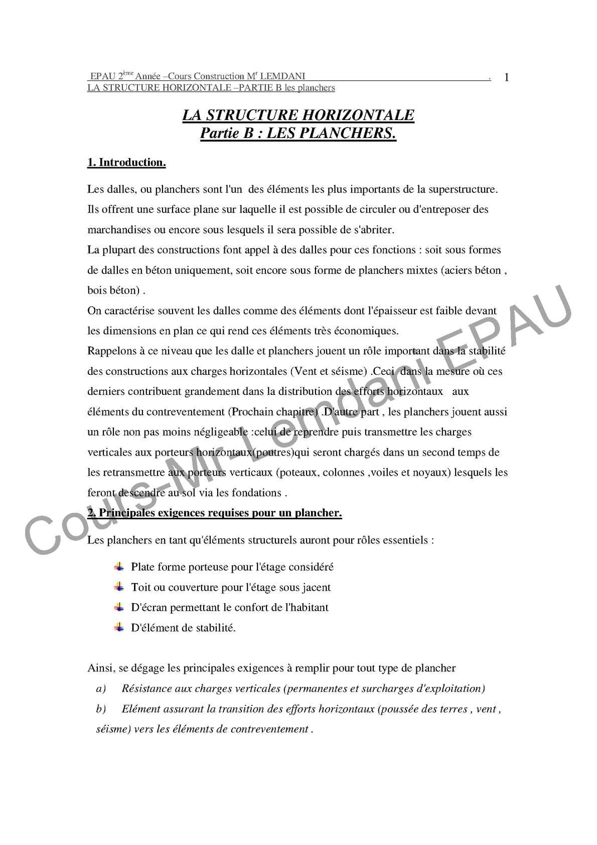 Dimensionnement d'une dalle pleine en béton armé pdf