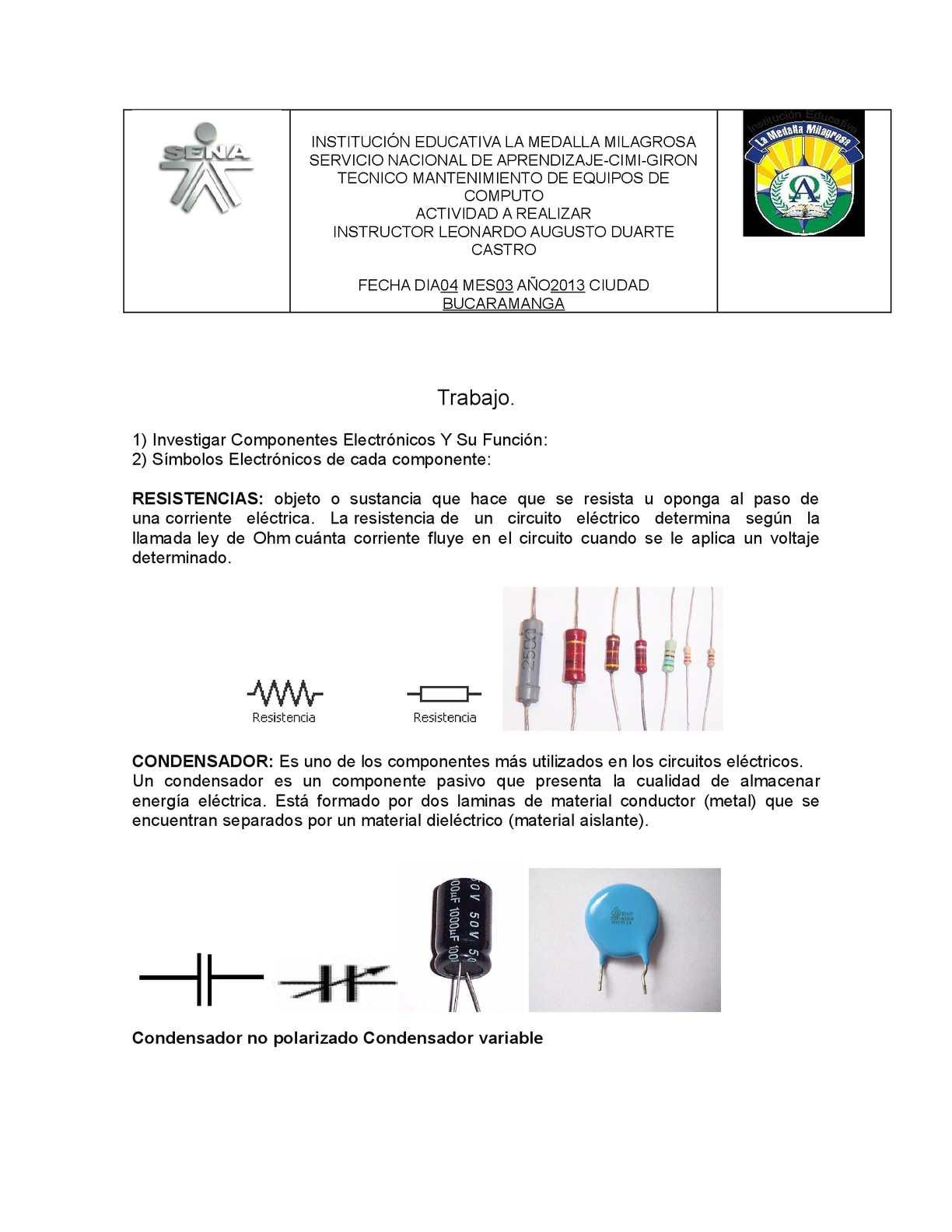 Circuito De Electronica : Ced u departamento de tecnología electrónica