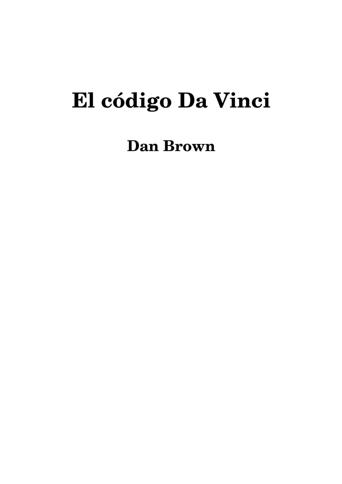 Calaméo - Codigo Da Vinci - Brown Dan