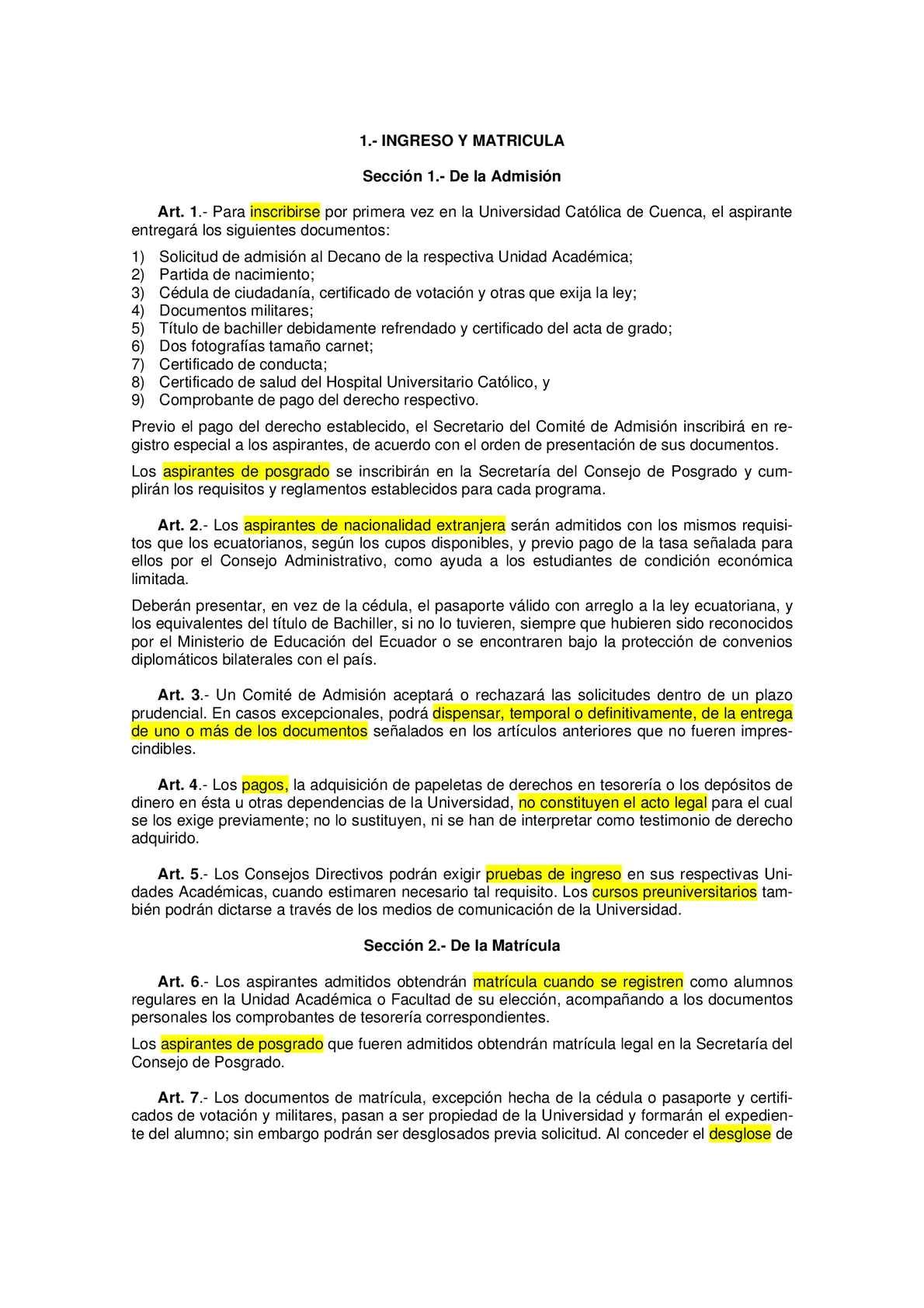 Calaméo - Deberes y Derechos de la Universidad Católica de Cuenca ...