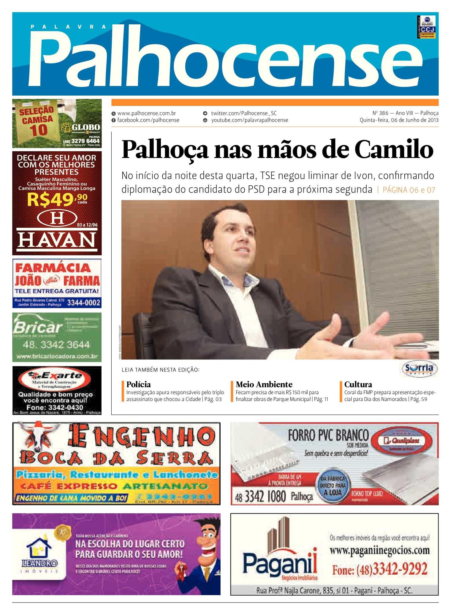 Calaméo - Jornal Palavra Palhocense - Edição 386 34dd236874483