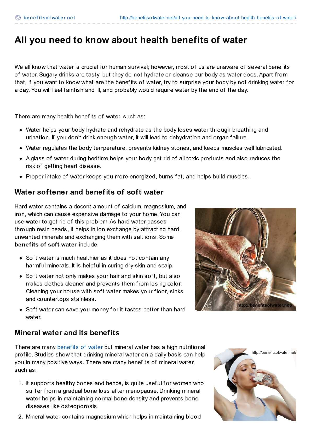 Calamo All You Need To Know About Health Benefits Of Water