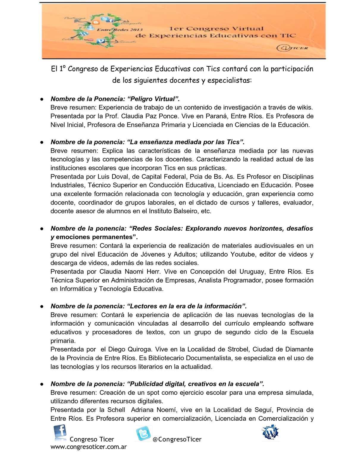 Calaméo - Biografía y ponencias