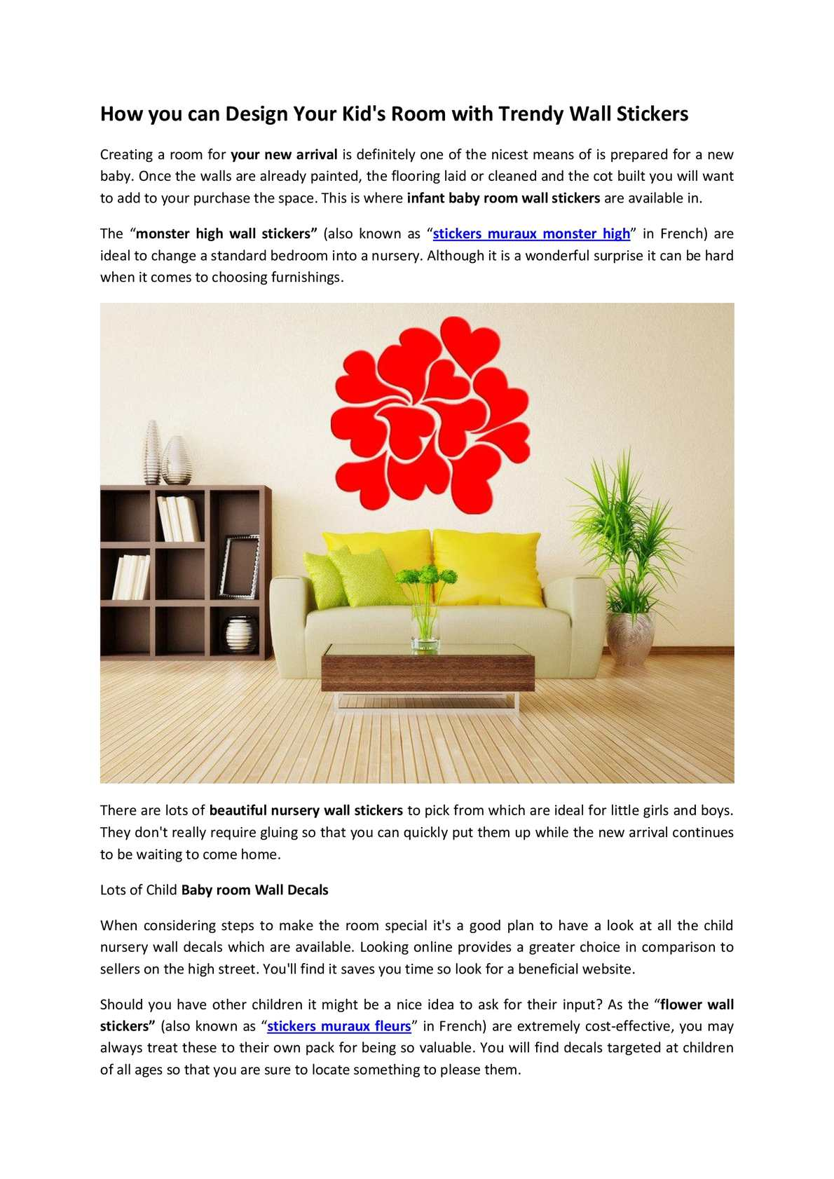 Exceptional Calaméo   How You Can Design Your Kidu0027s Room With Trendy Wall Stickers